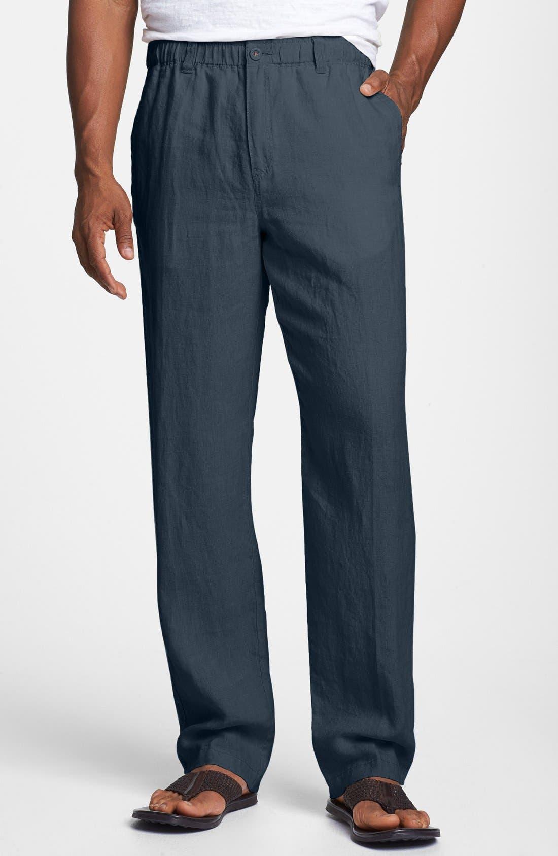 New Linen on the Beach Linen Pants,                             Main thumbnail 7, color,