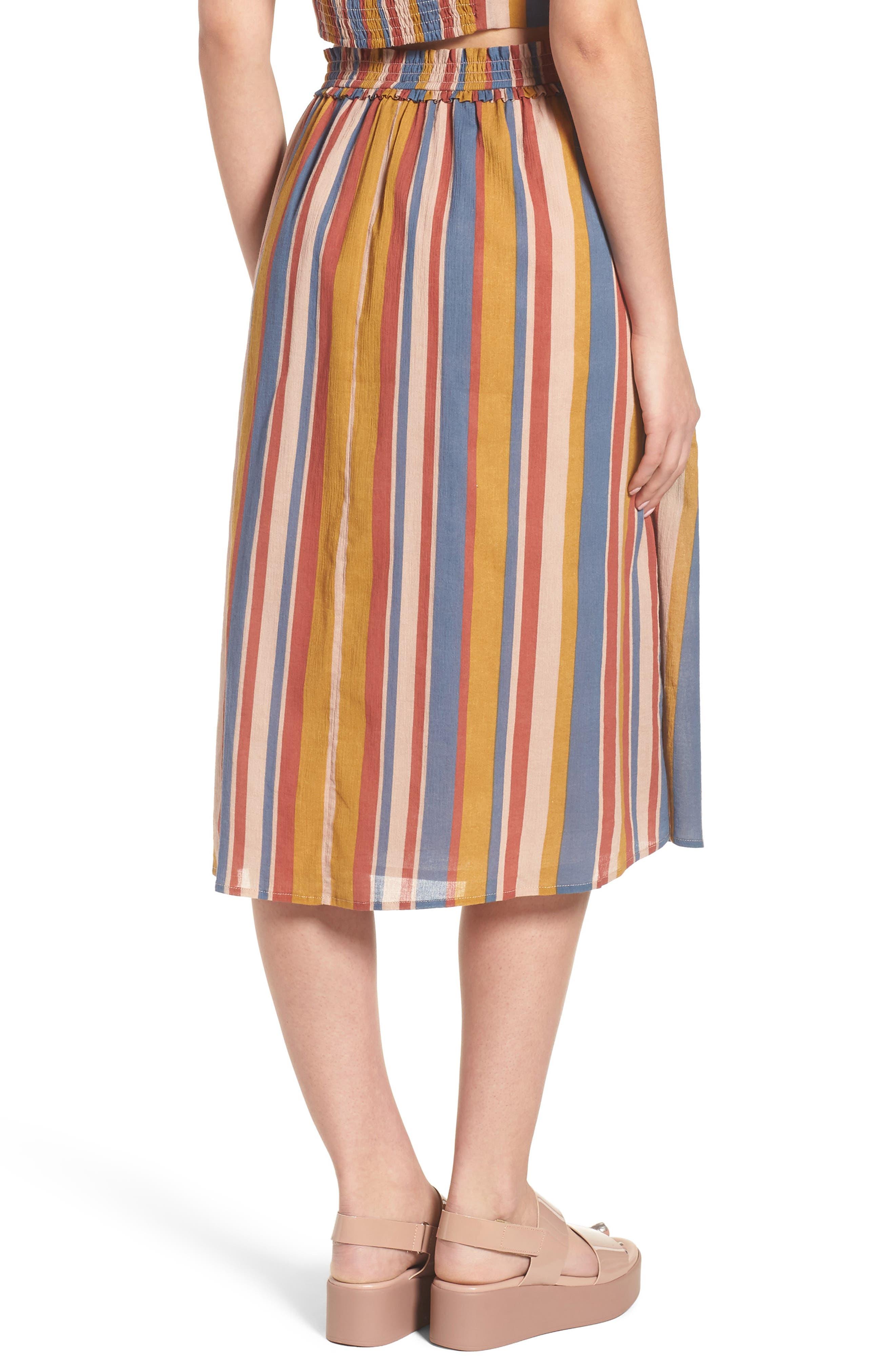 Smocked Midi Skirt,                             Alternate thumbnail 2, color,