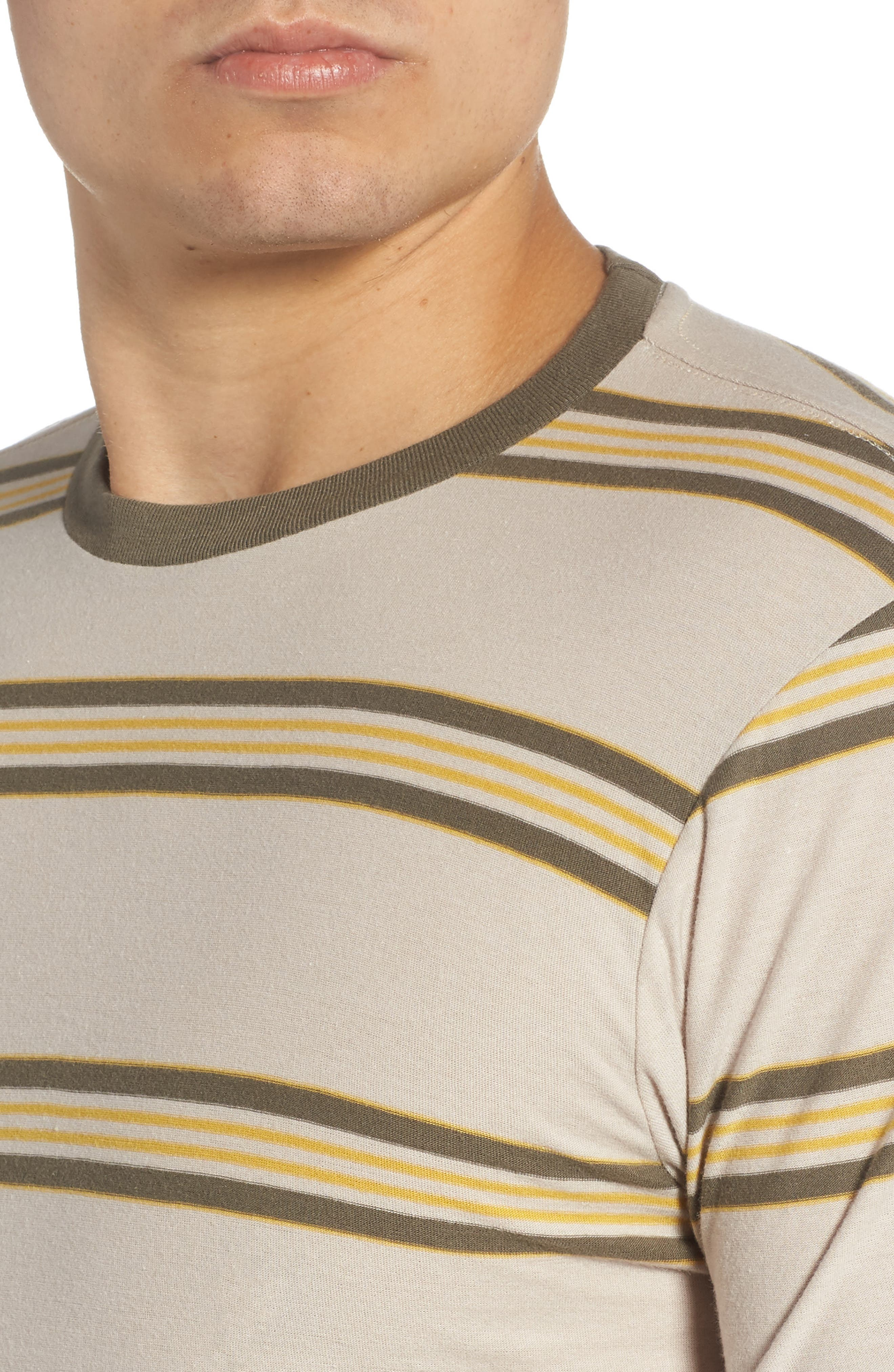 Die Cut Stripe T-Shirt,                             Alternate thumbnail 4, color,                             STONE