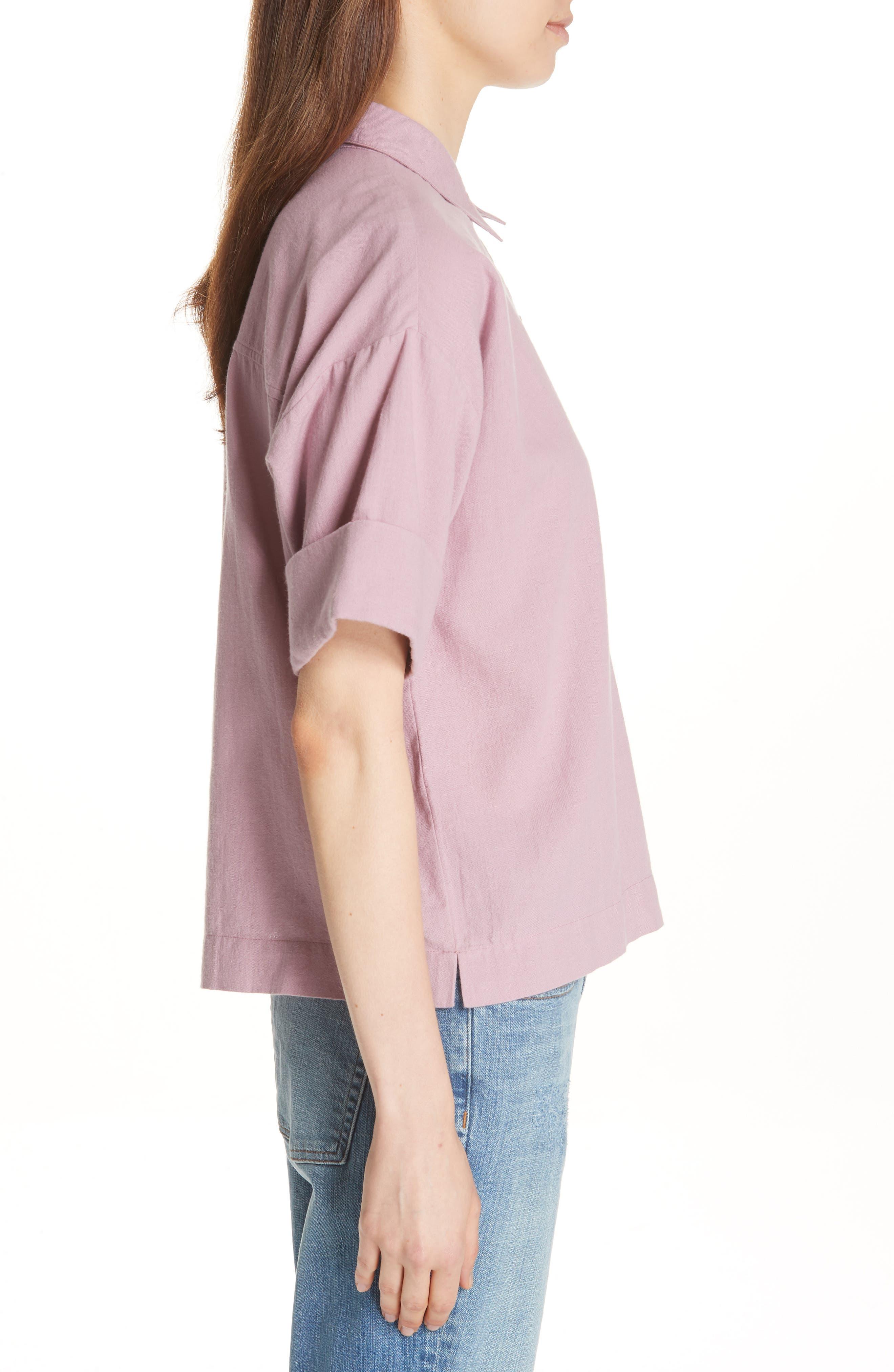 Classic Boxy Shirt,                             Alternate thumbnail 6, color,