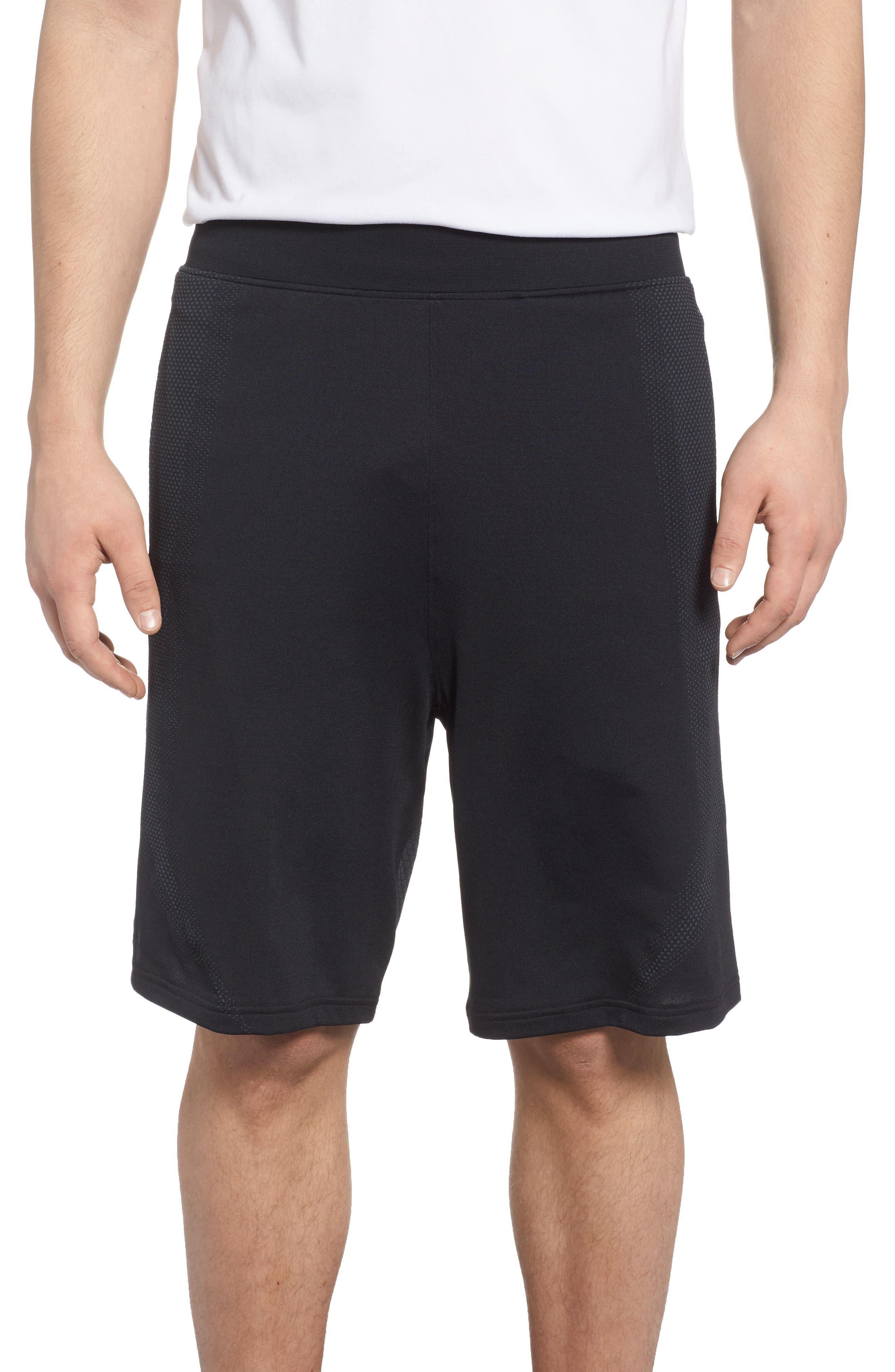 Threadborne Seamless Shorts,                             Main thumbnail 1, color,                             BLACK/ STEALTH GREH
