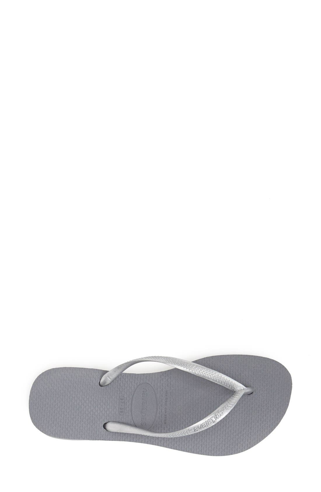 'Slim' Flip Flop,                             Alternate thumbnail 5, color,                             STEEL GREY