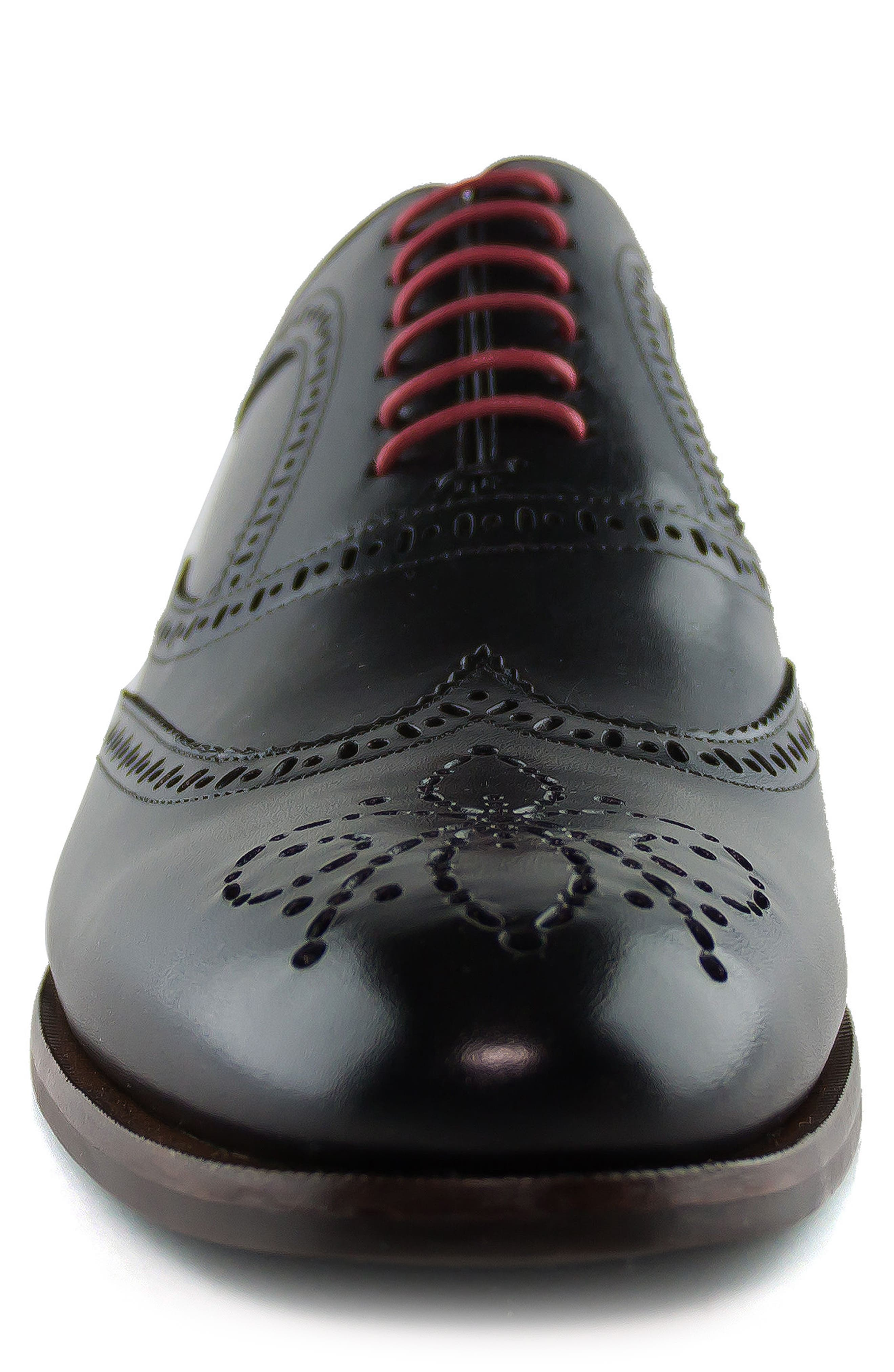 Madison Wingtip Oxford,                             Alternate thumbnail 4, color,                             BLACK