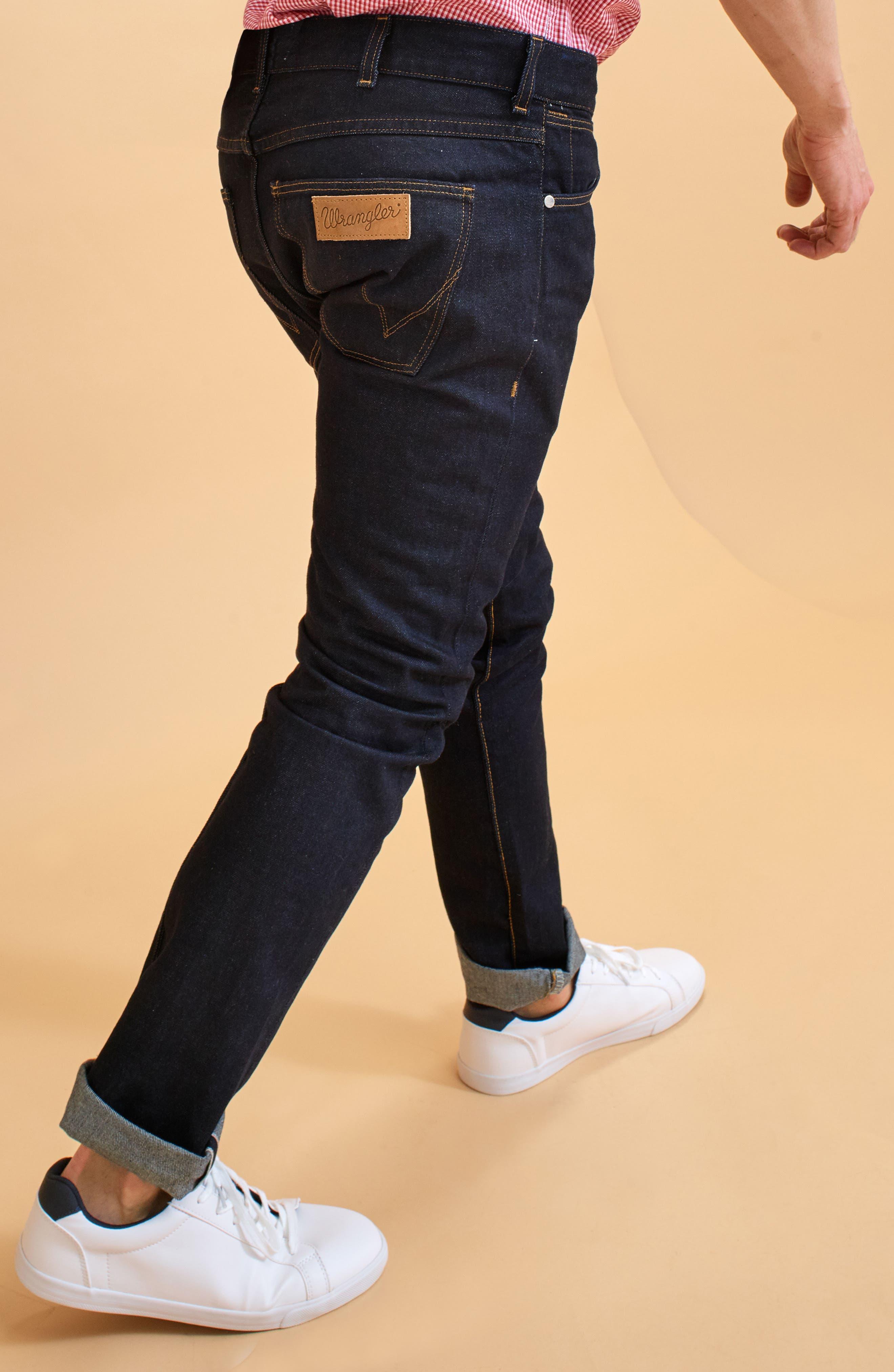 Spencer Selvedge Slim Straight Leg Jeans,                             Alternate thumbnail 7, color,                             468