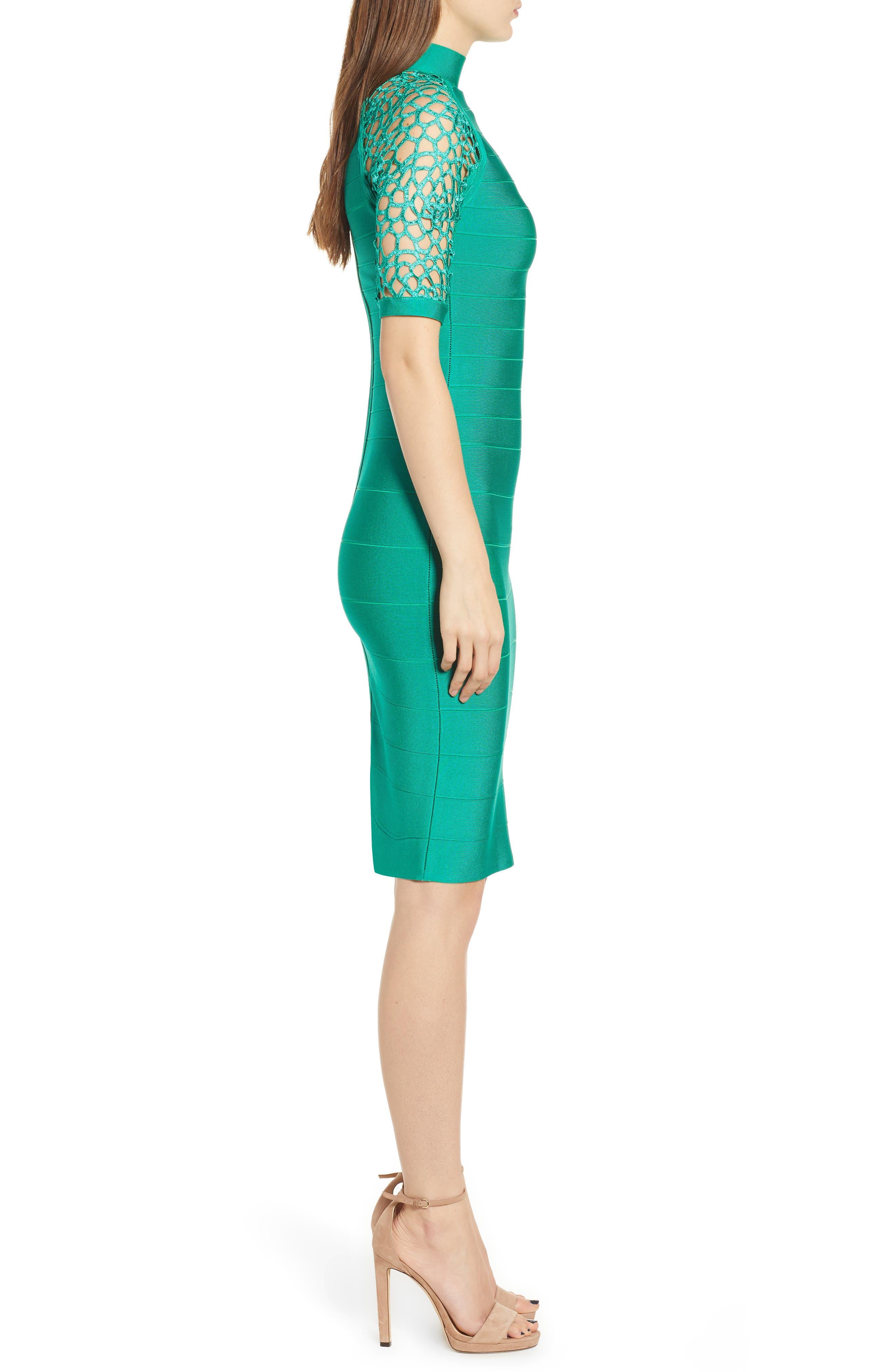 SENTIMENTAL NY,                             Bandage Body-Con Dress,                             Alternate thumbnail 3, color,                             GREEN