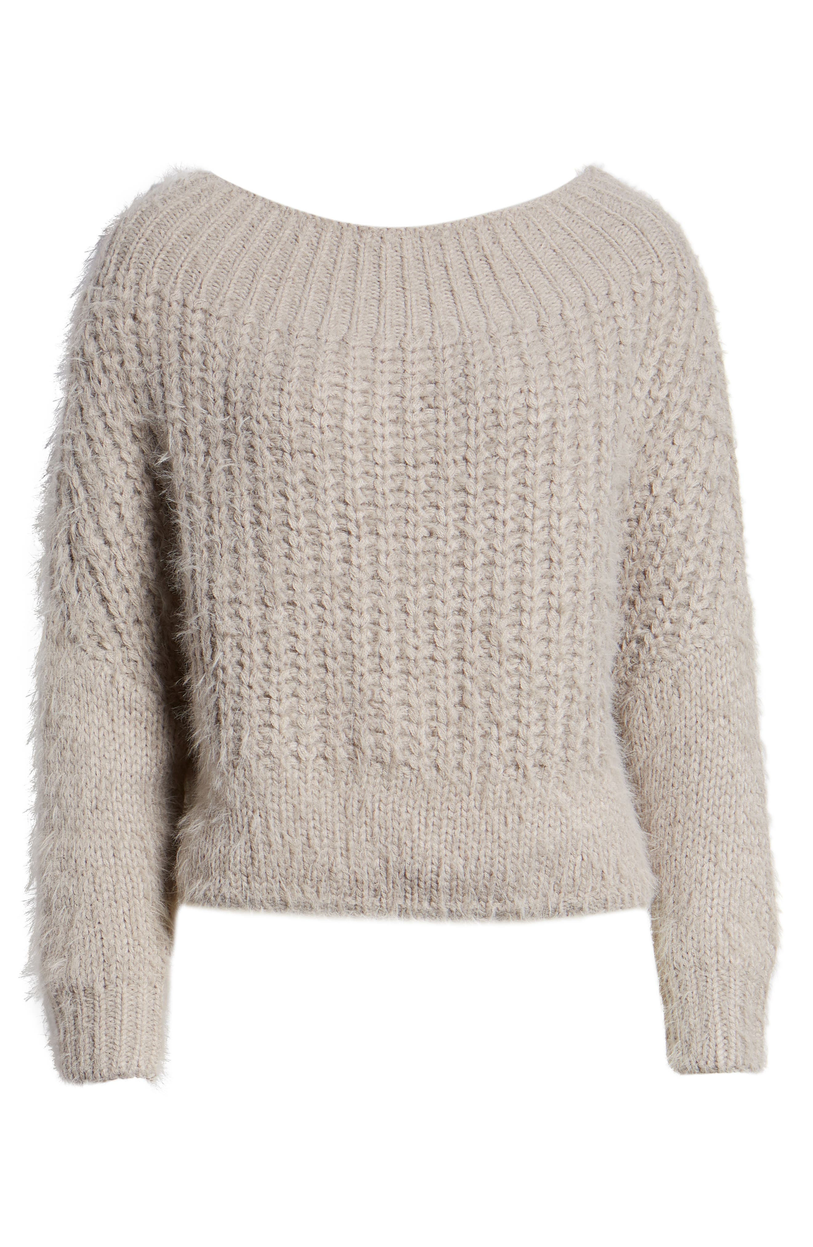 DREAMERS BY DEBUT,                             Boatneck Knit Pullover,                             Alternate thumbnail 6, color,                             MICRO GREY