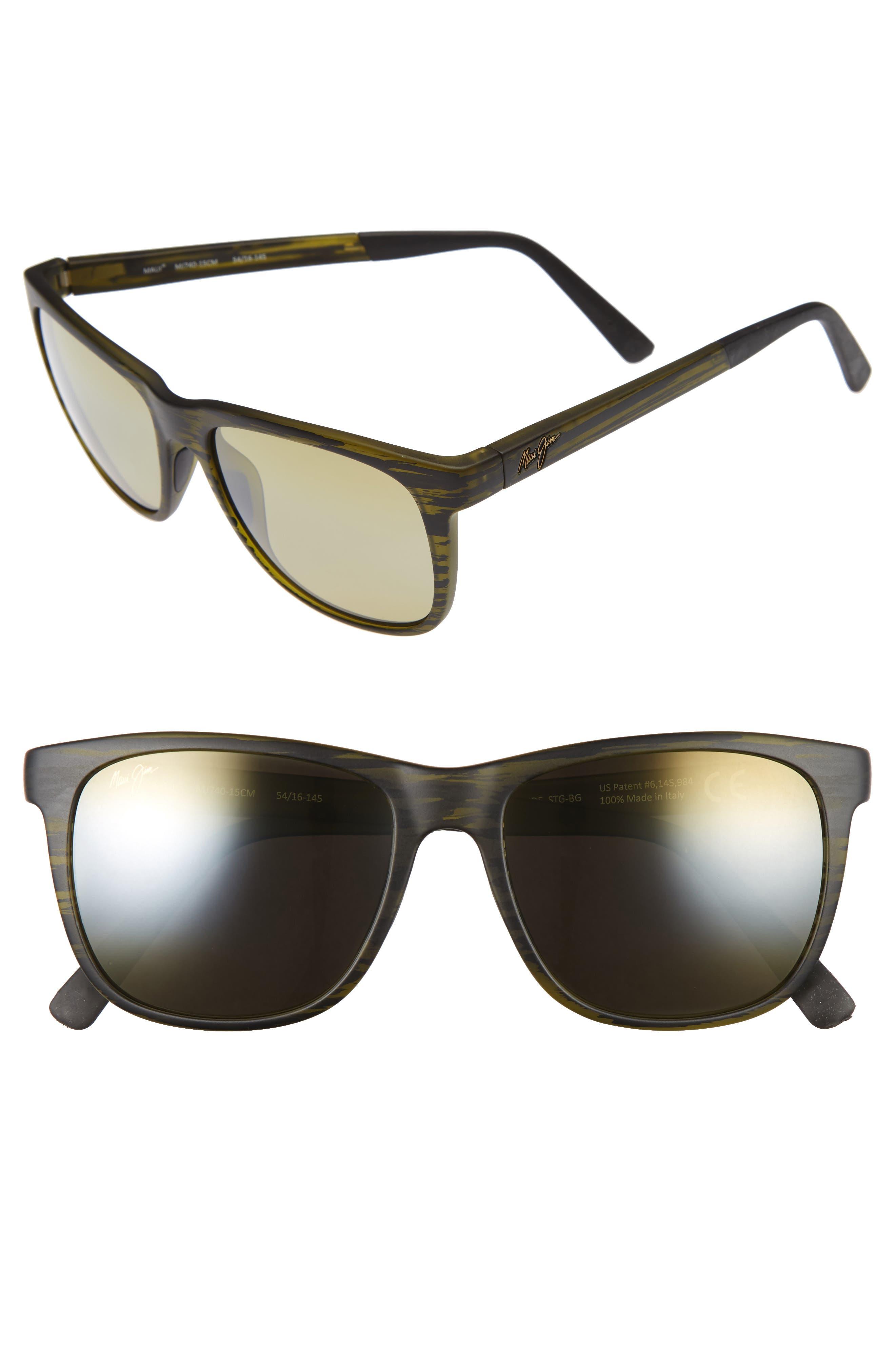 Maui Jim Tail Slide 5m Polarized Sunglasses - Matte Green Stripe