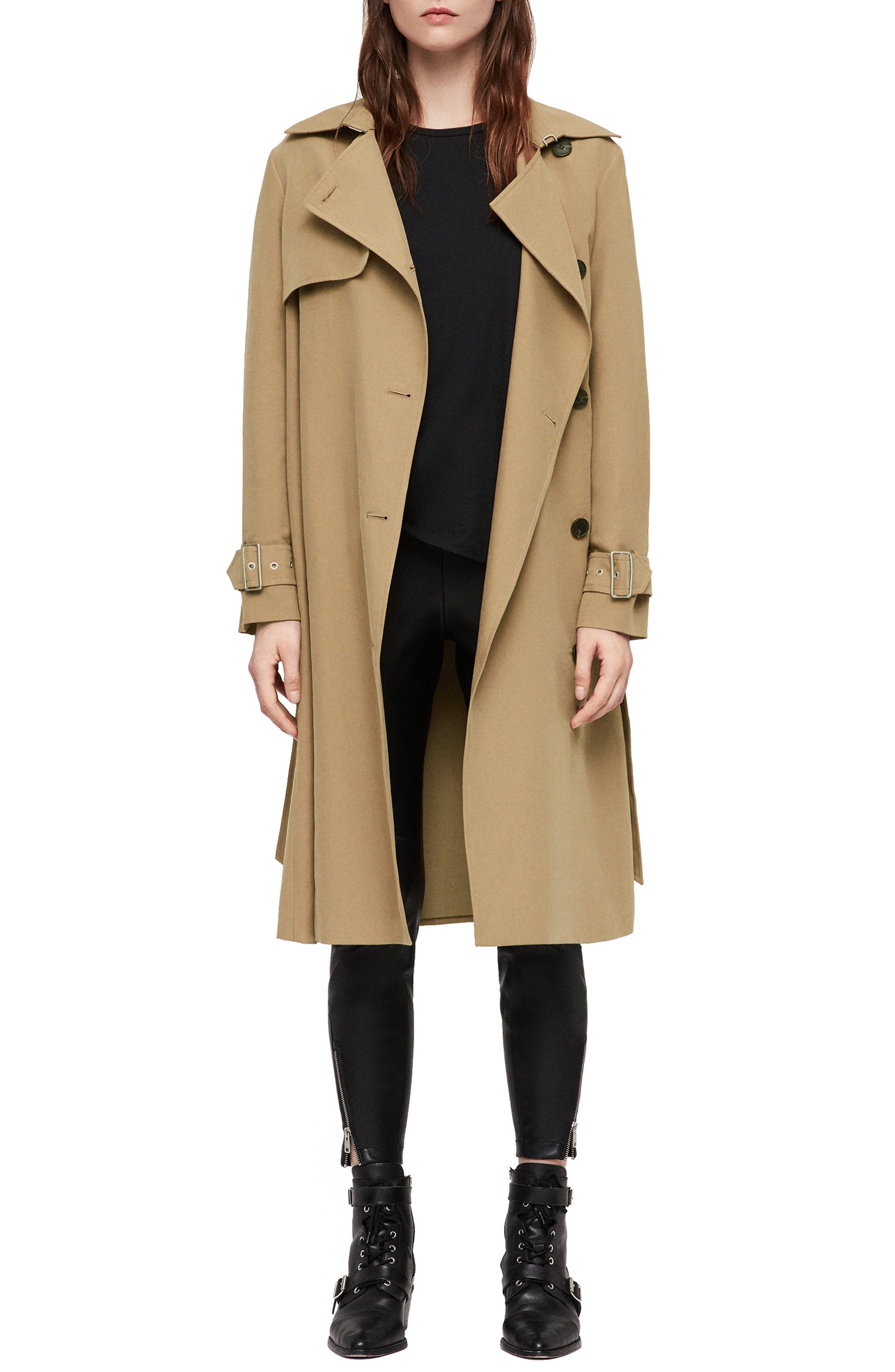 Myla Trench Coat,                         Main,                         color, 200