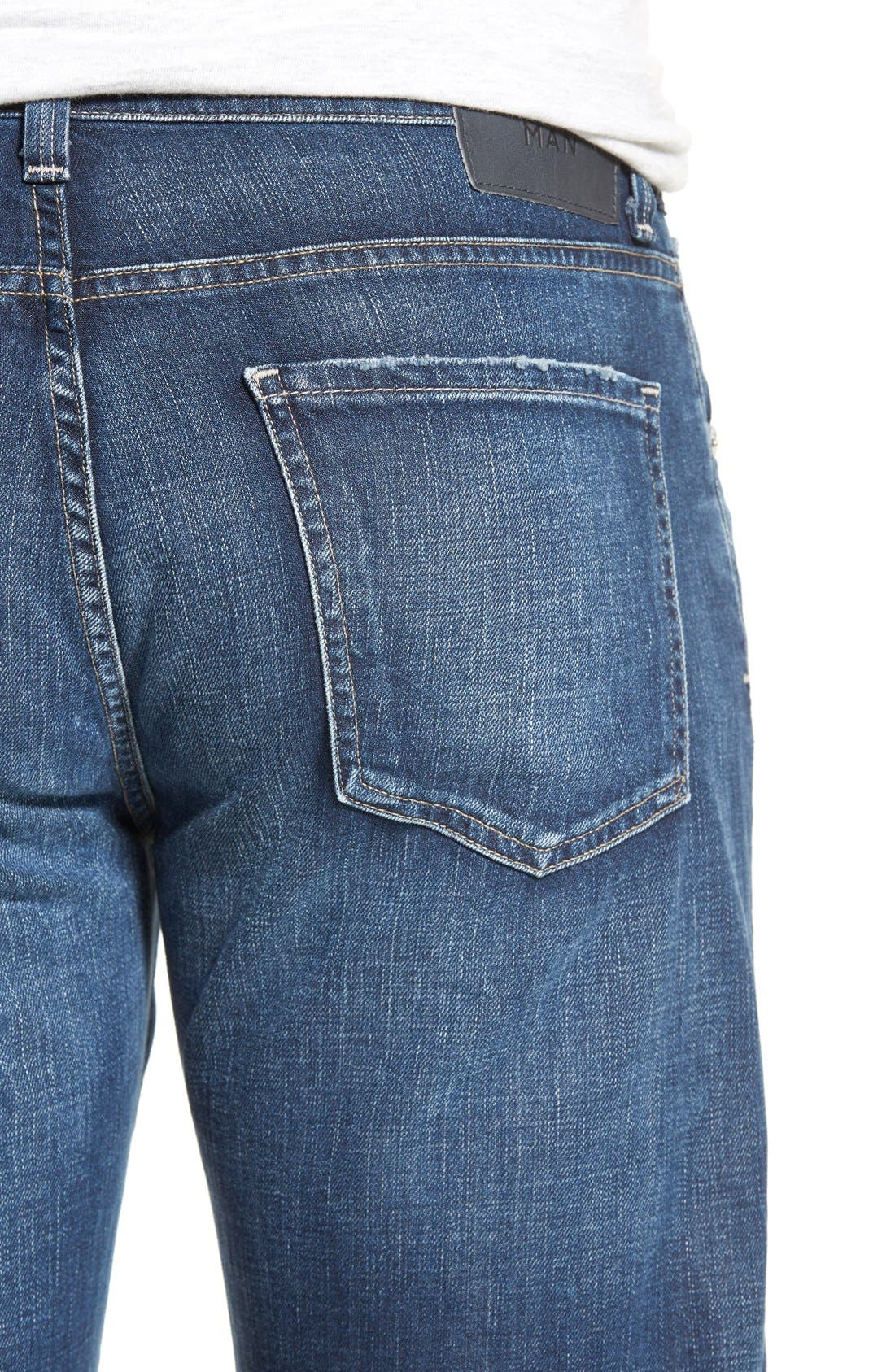 'Evans' Relaxed Fit Jeans,                             Alternate thumbnail 5, color,                             DERBY