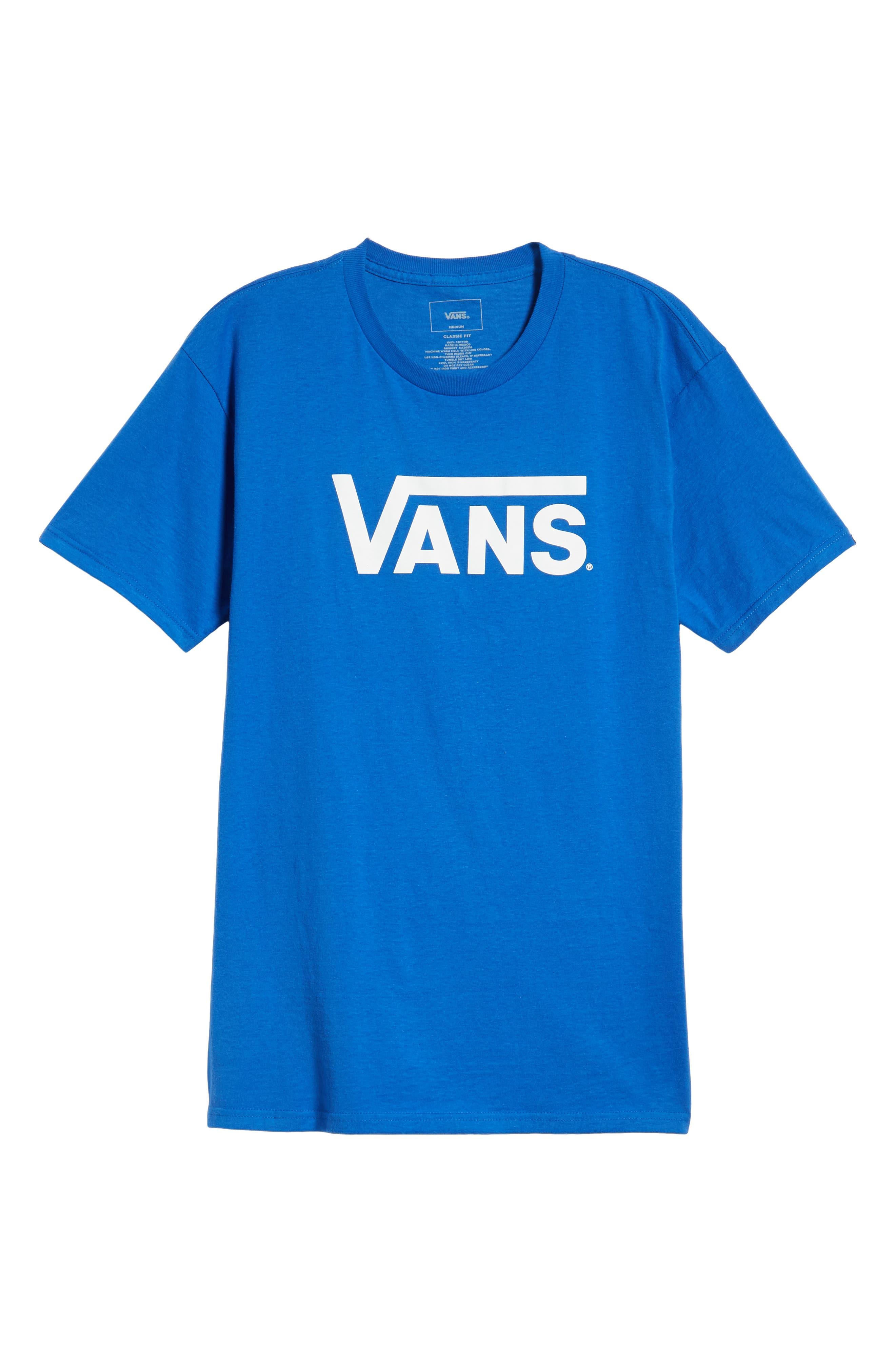 Classic Logo T-Shirt,                             Alternate thumbnail 6, color,                             ROYAL/ WHITE