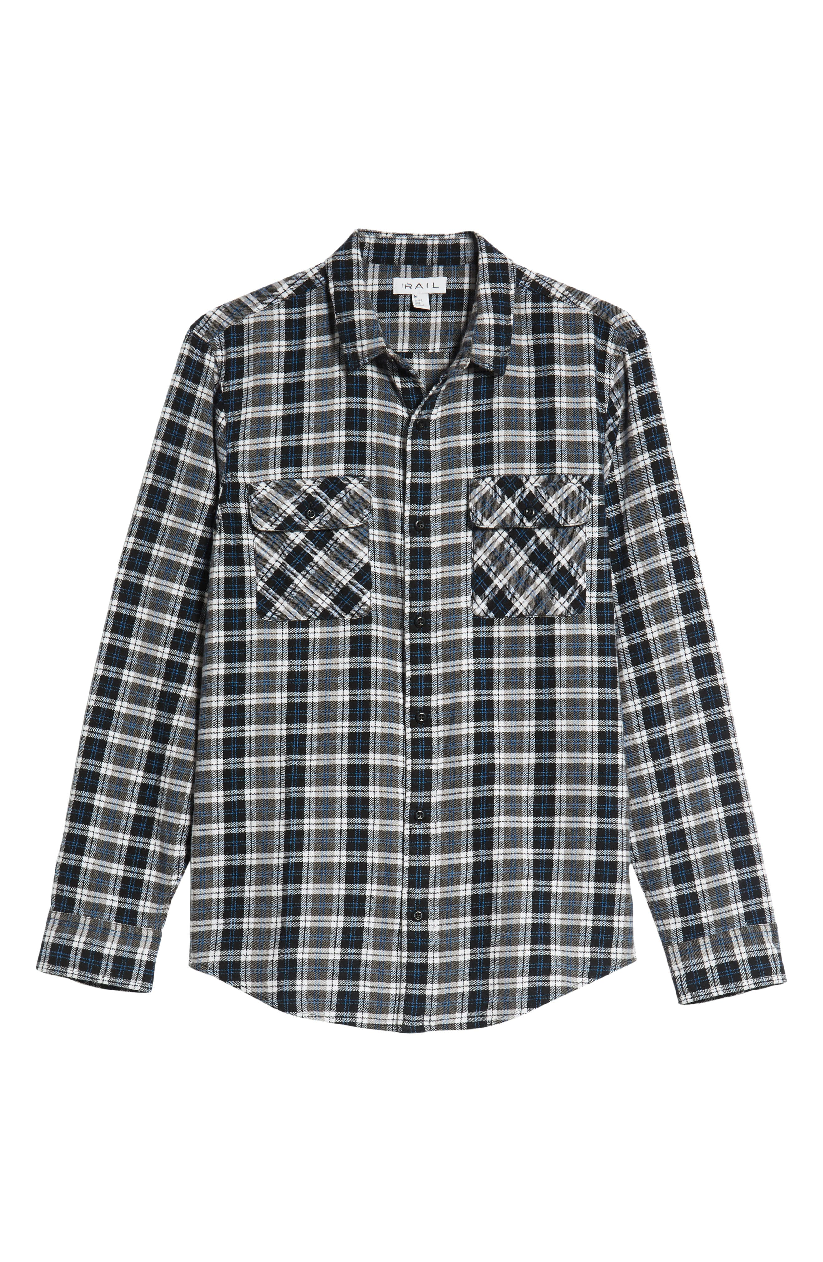 Plaid Flannel Shirt,                             Alternate thumbnail 6, color,                             030