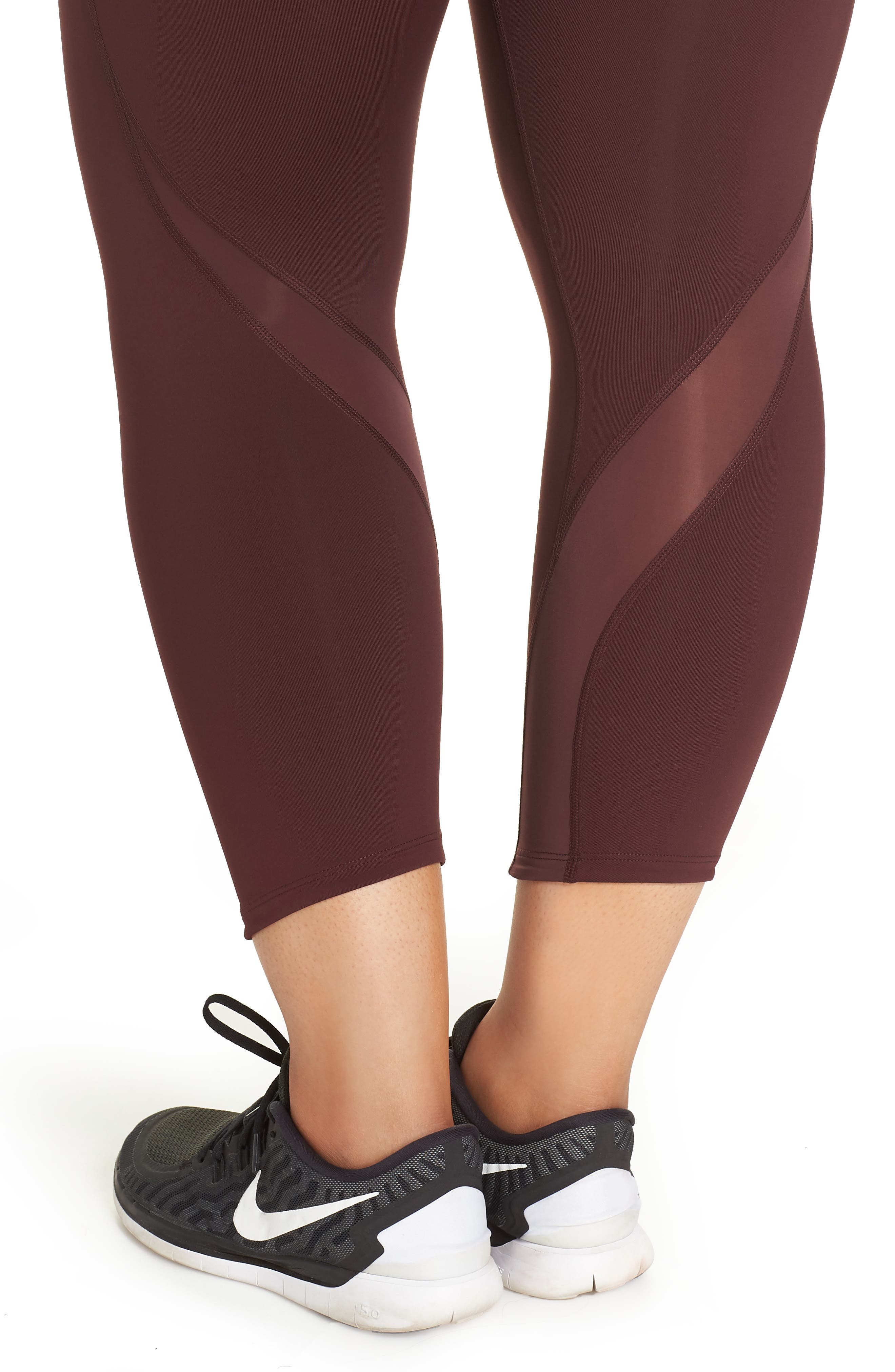 Power Epic Lux Crop Running Tights,                             Alternate thumbnail 12, color,