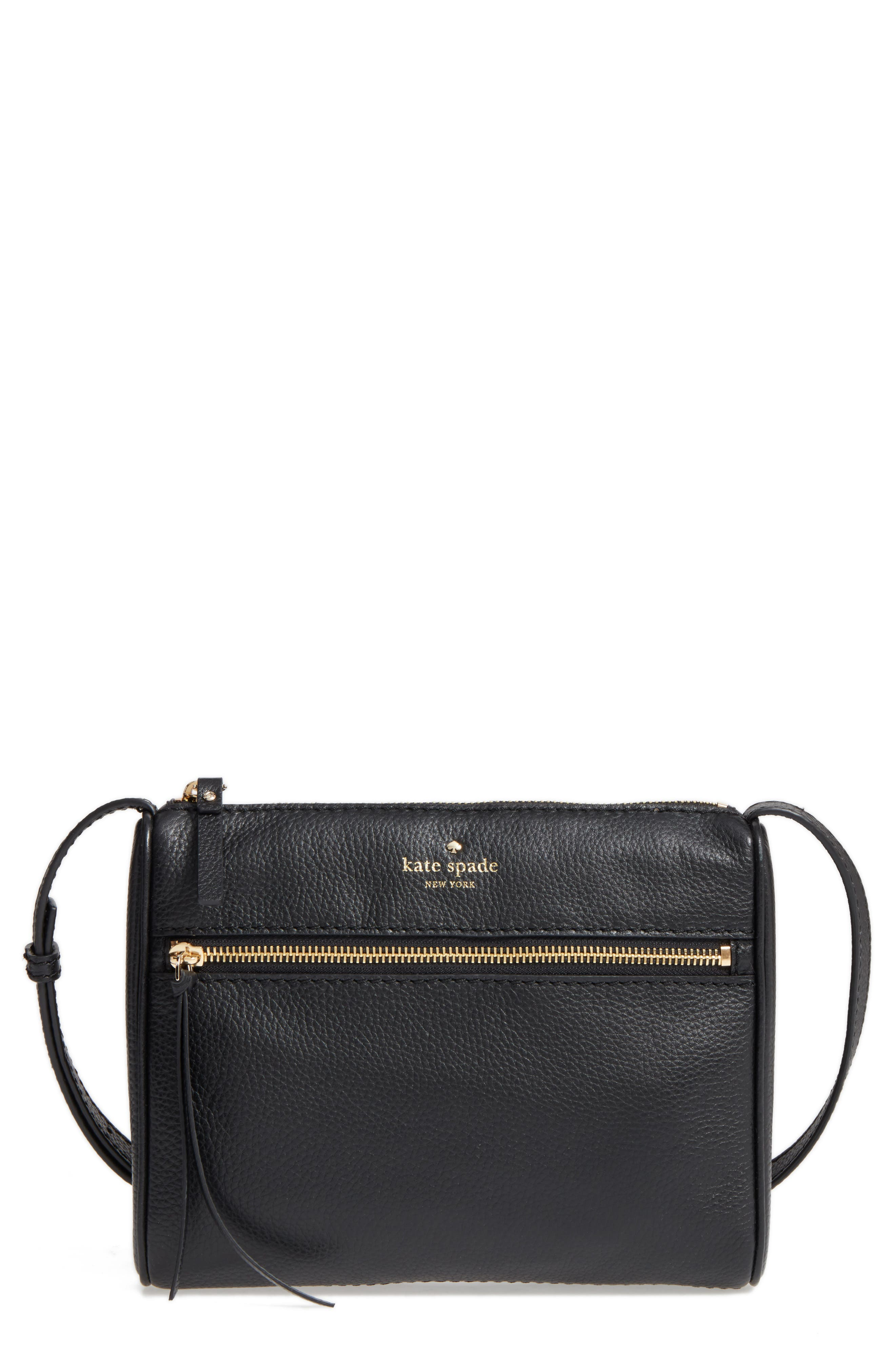 young lane - cayli leather crossbody bag,                             Main thumbnail 1, color,                             001