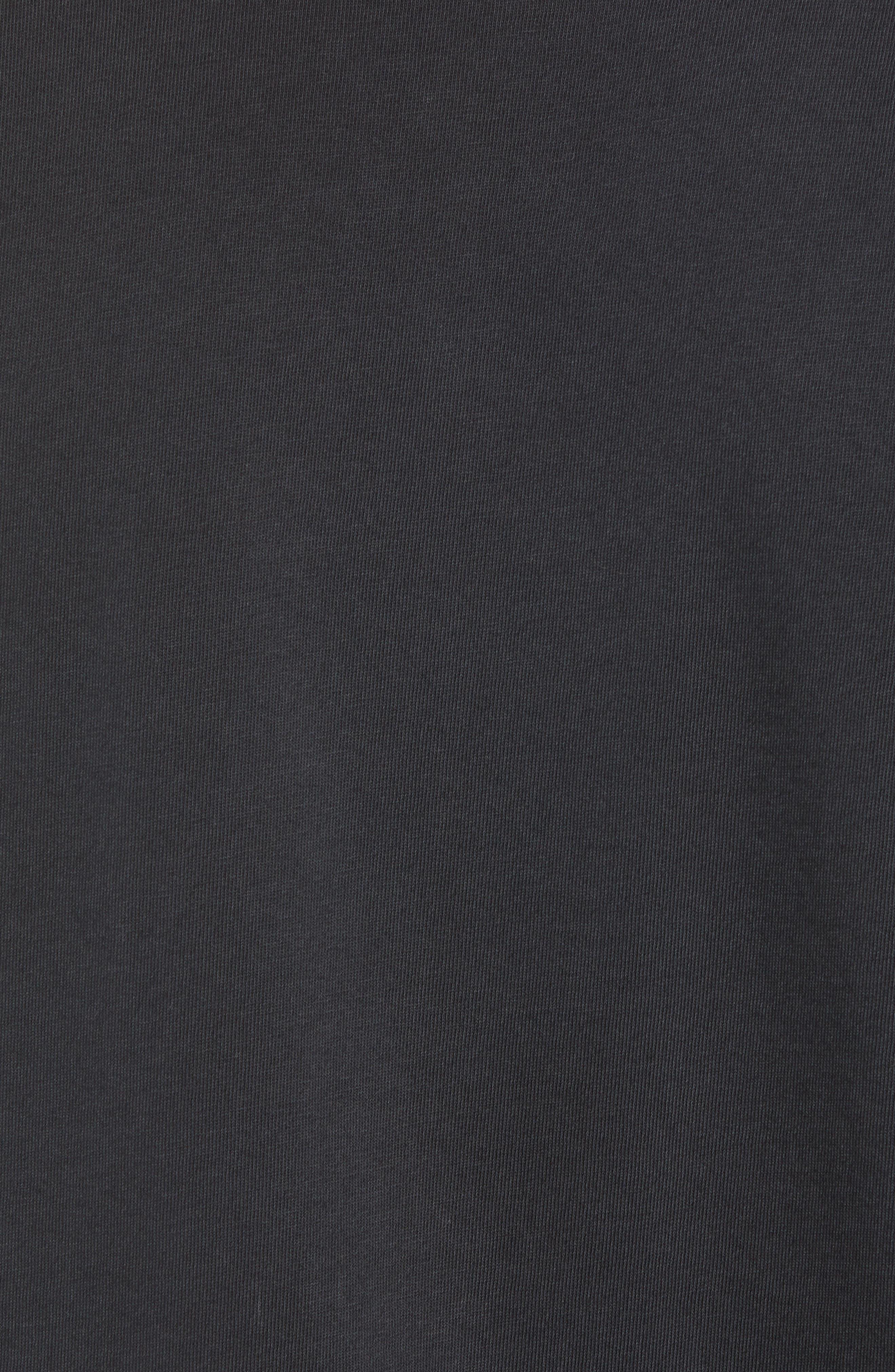 Regular Fit Elongated T-Shirt,                             Alternate thumbnail 5, color,                             BLACK