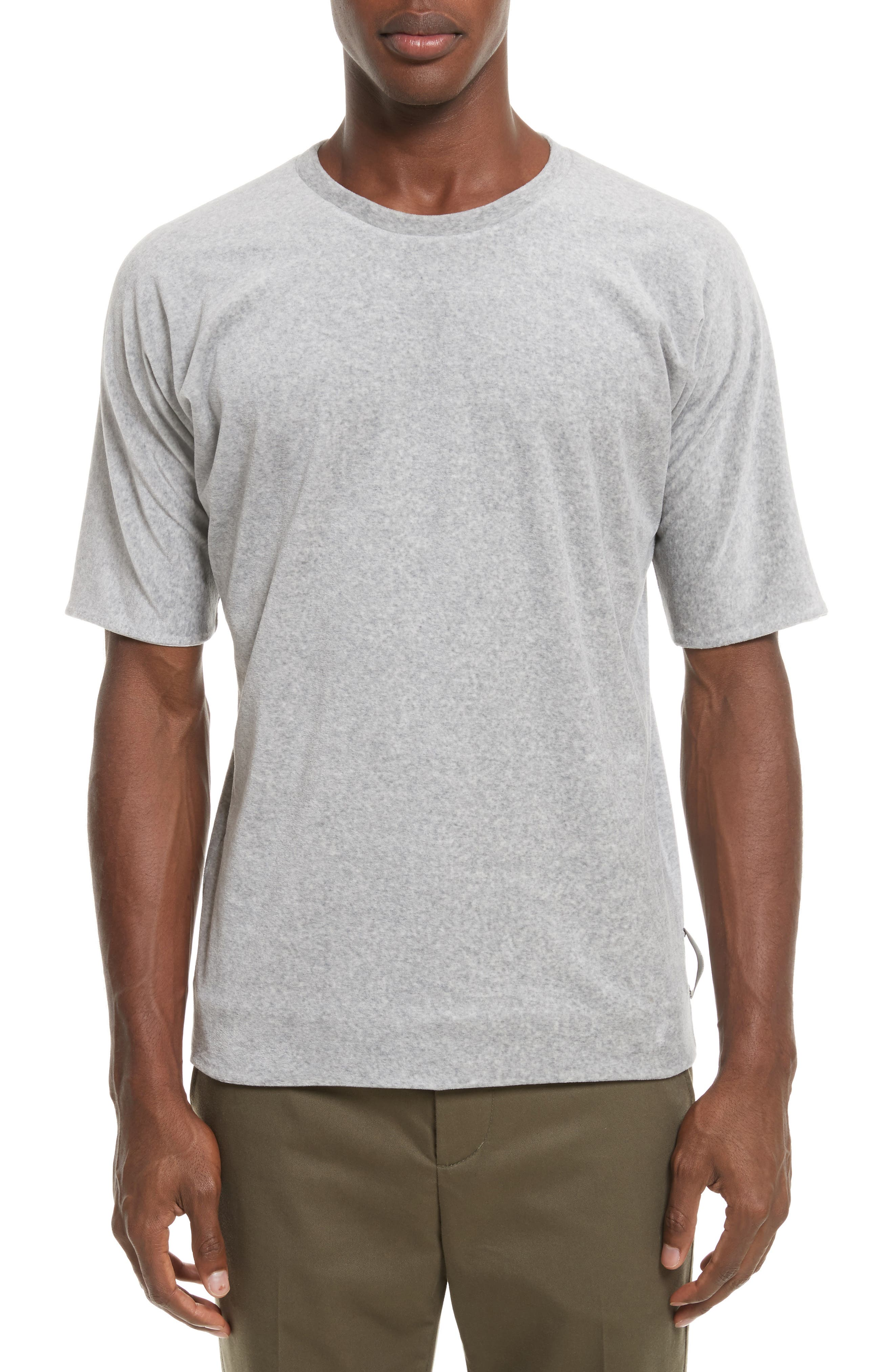 Reversible Double Layer T-Shirt,                             Main thumbnail 1, color,                             LIGHT GREY