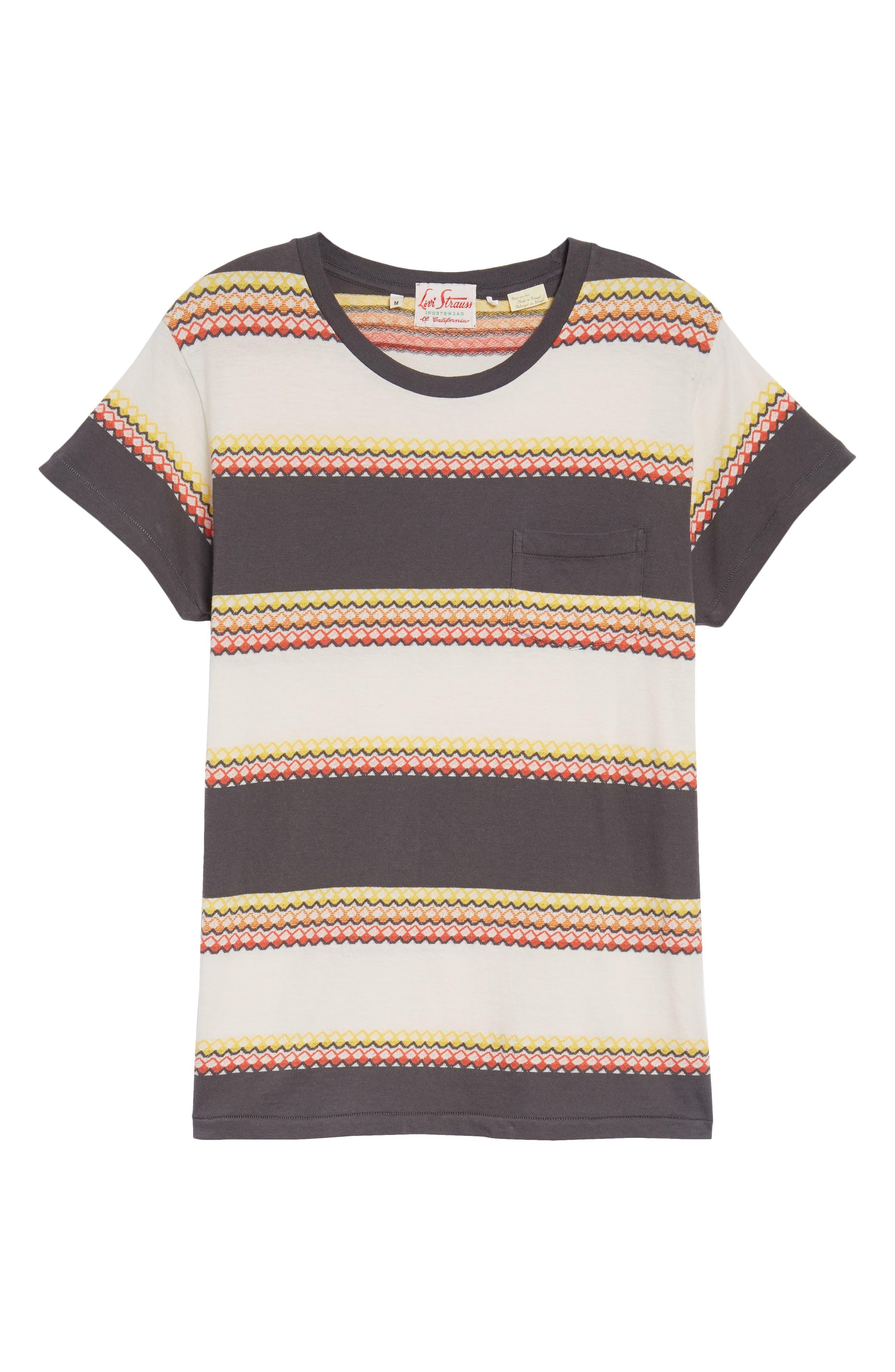 1950s Sportswear Pocket T-Shirt,                             Alternate thumbnail 6, color,