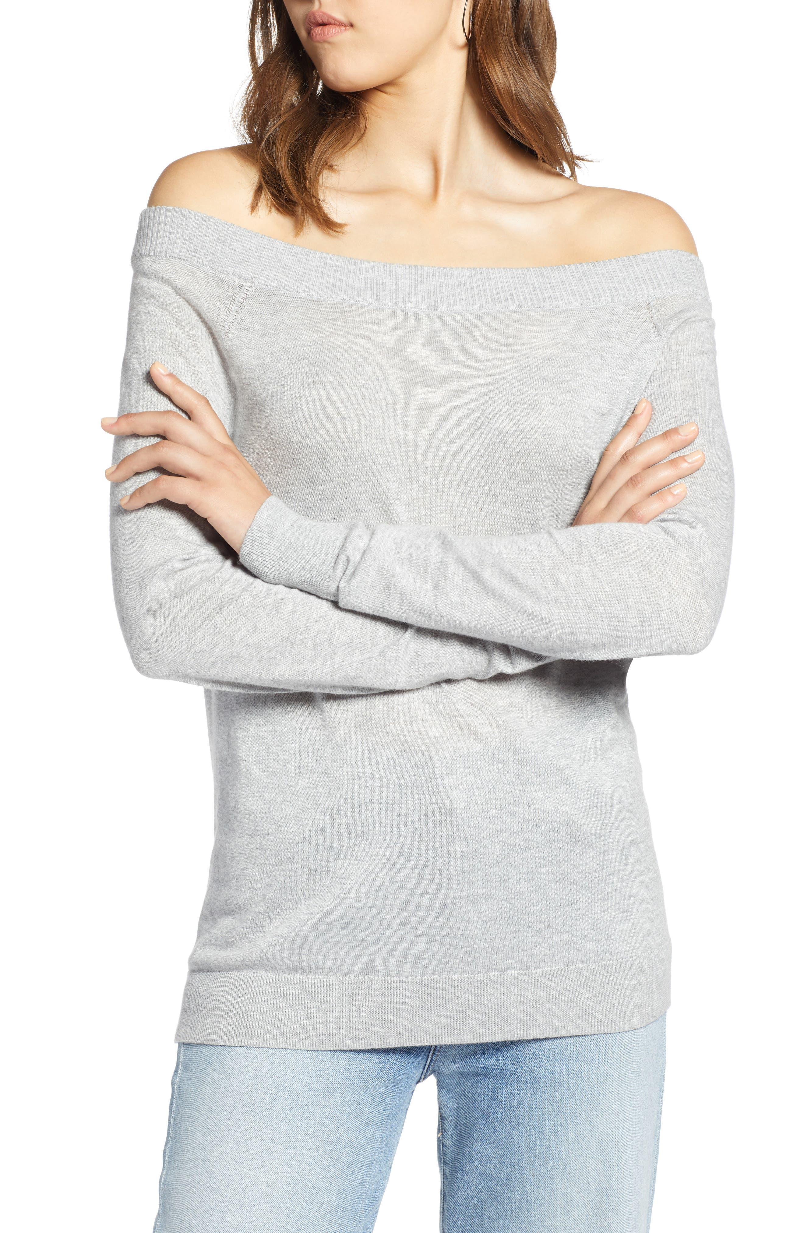 Convertible Bateau Neck Sweater,                             Alternate thumbnail 5, color,