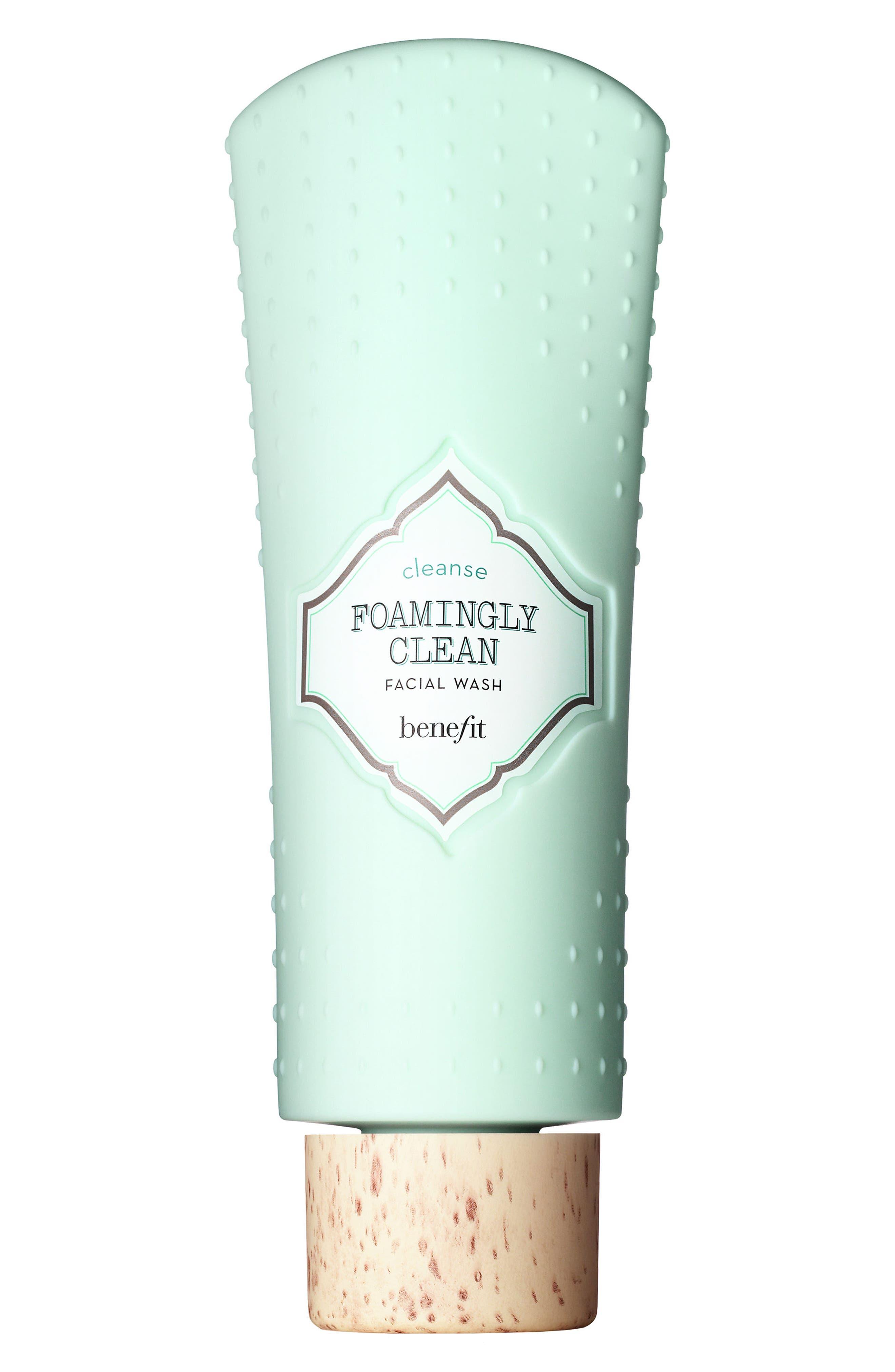 BENEFIT COSMETICS,                             Benefit Foamingly Clean Facial Wash,                             Main thumbnail 1, color,                             000