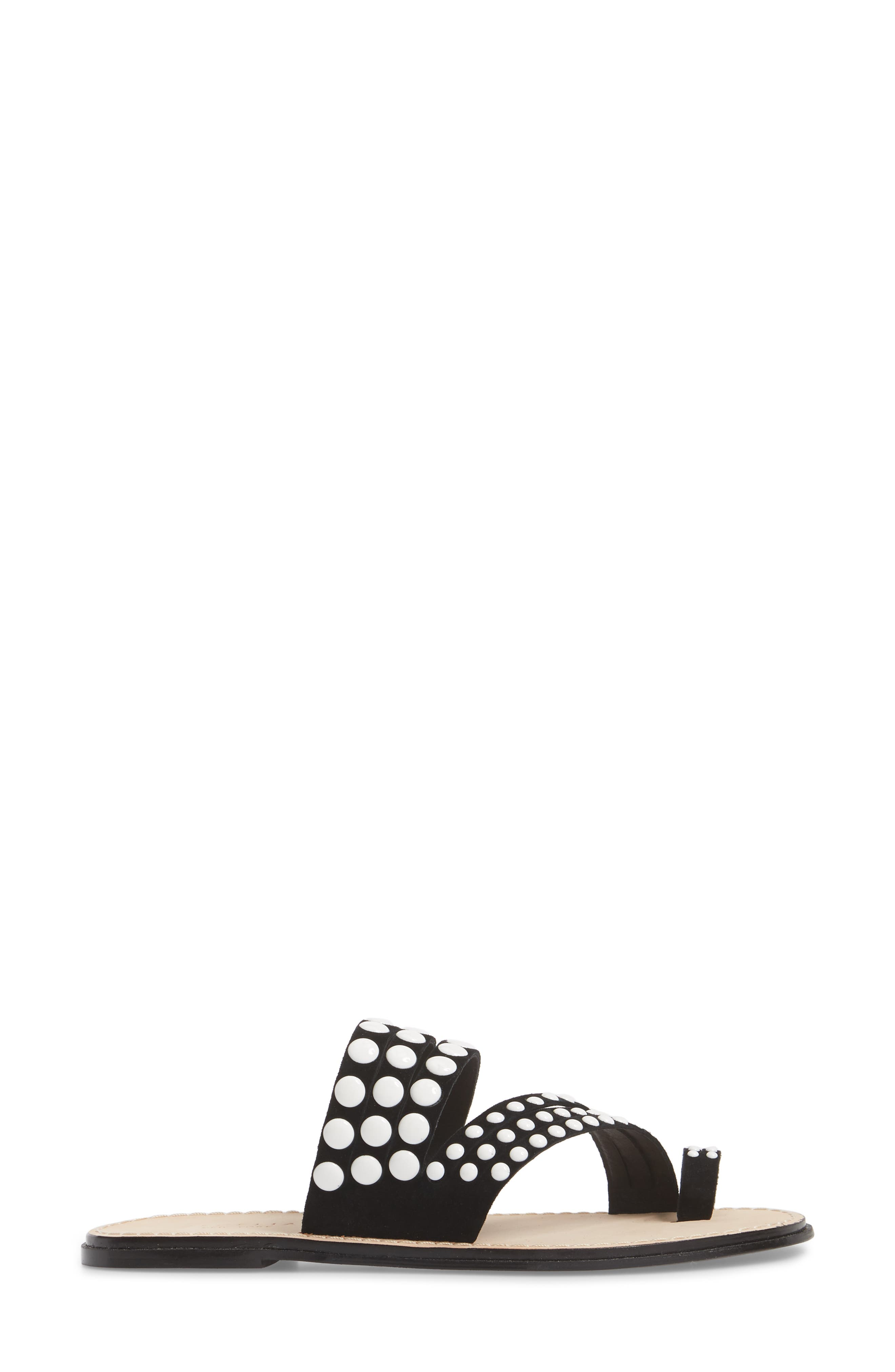 Pezz Studded Sandal,                             Alternate thumbnail 3, color,                             001