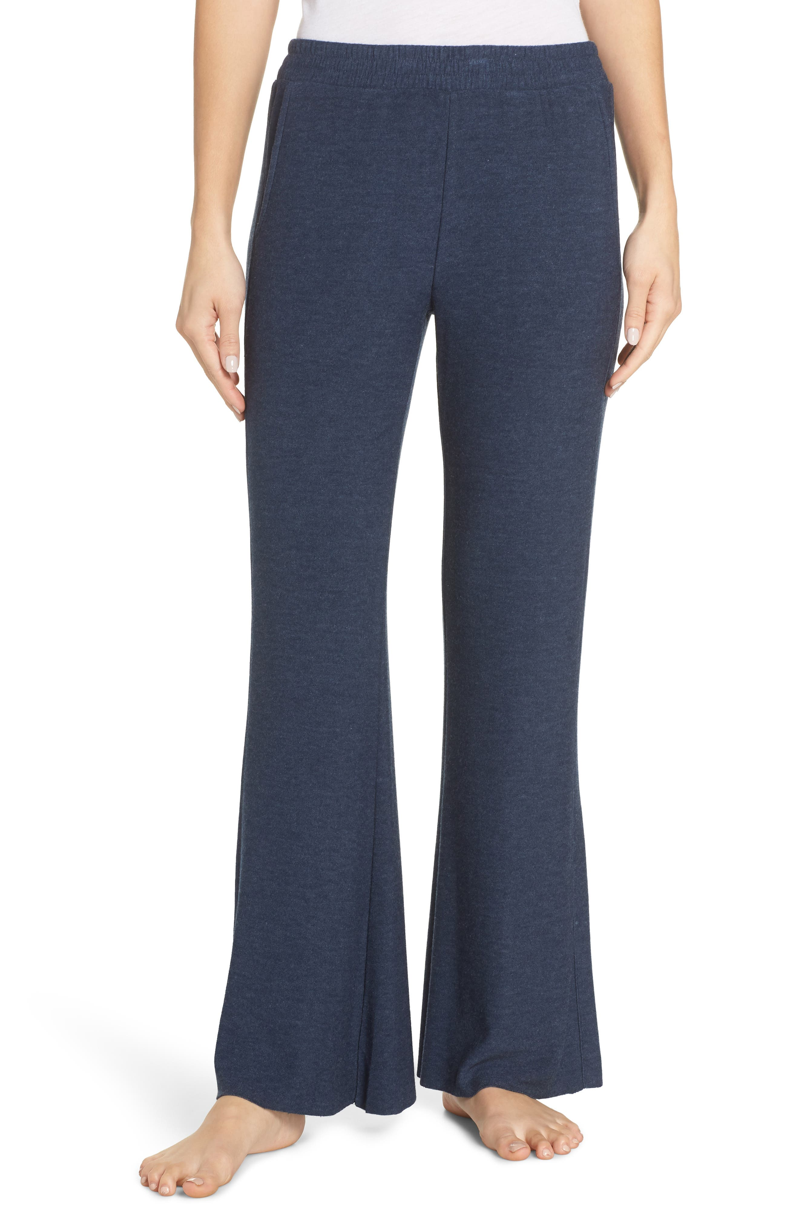 Chaser Wide Leg Pajama Pants, Blue