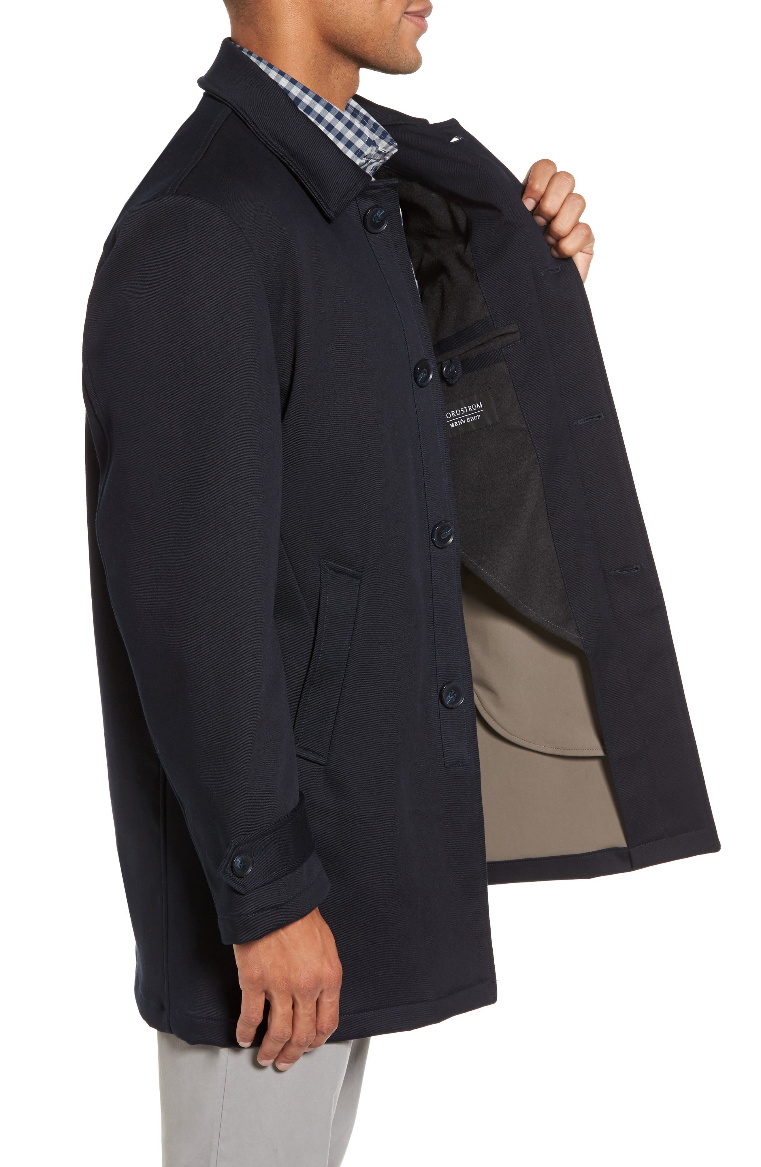 Grayson Stretch Cotton Blend Car Coat,                             Alternate thumbnail 3, color,