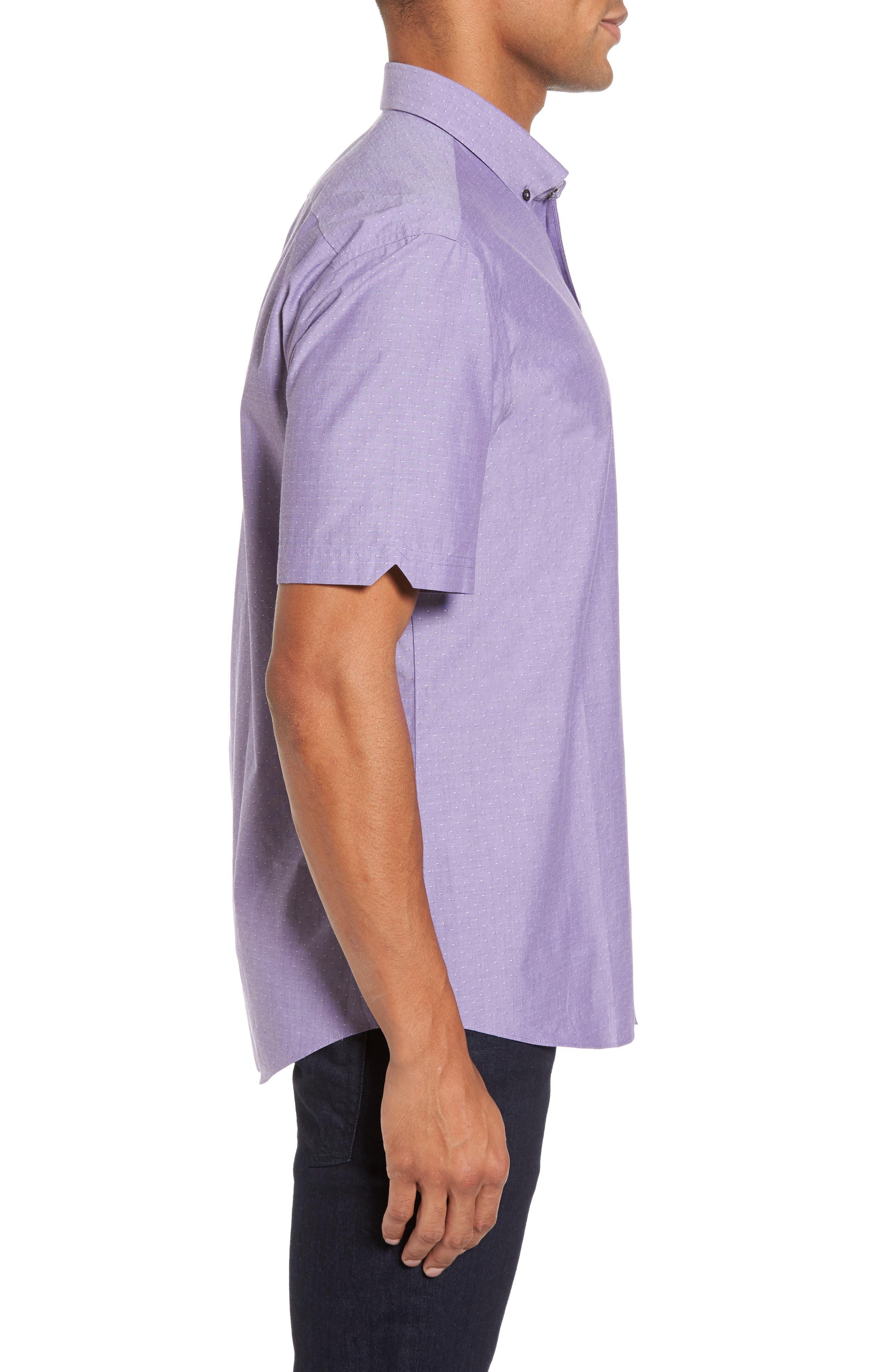 Olson Slim Fit Dobby Sport Shirt,                             Alternate thumbnail 3, color,                             530