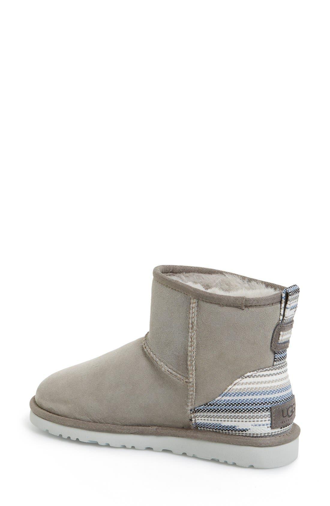 'Classic Mini Serape' Genuine Shearling Lined Boot,                             Alternate thumbnail 3, color,                             024
