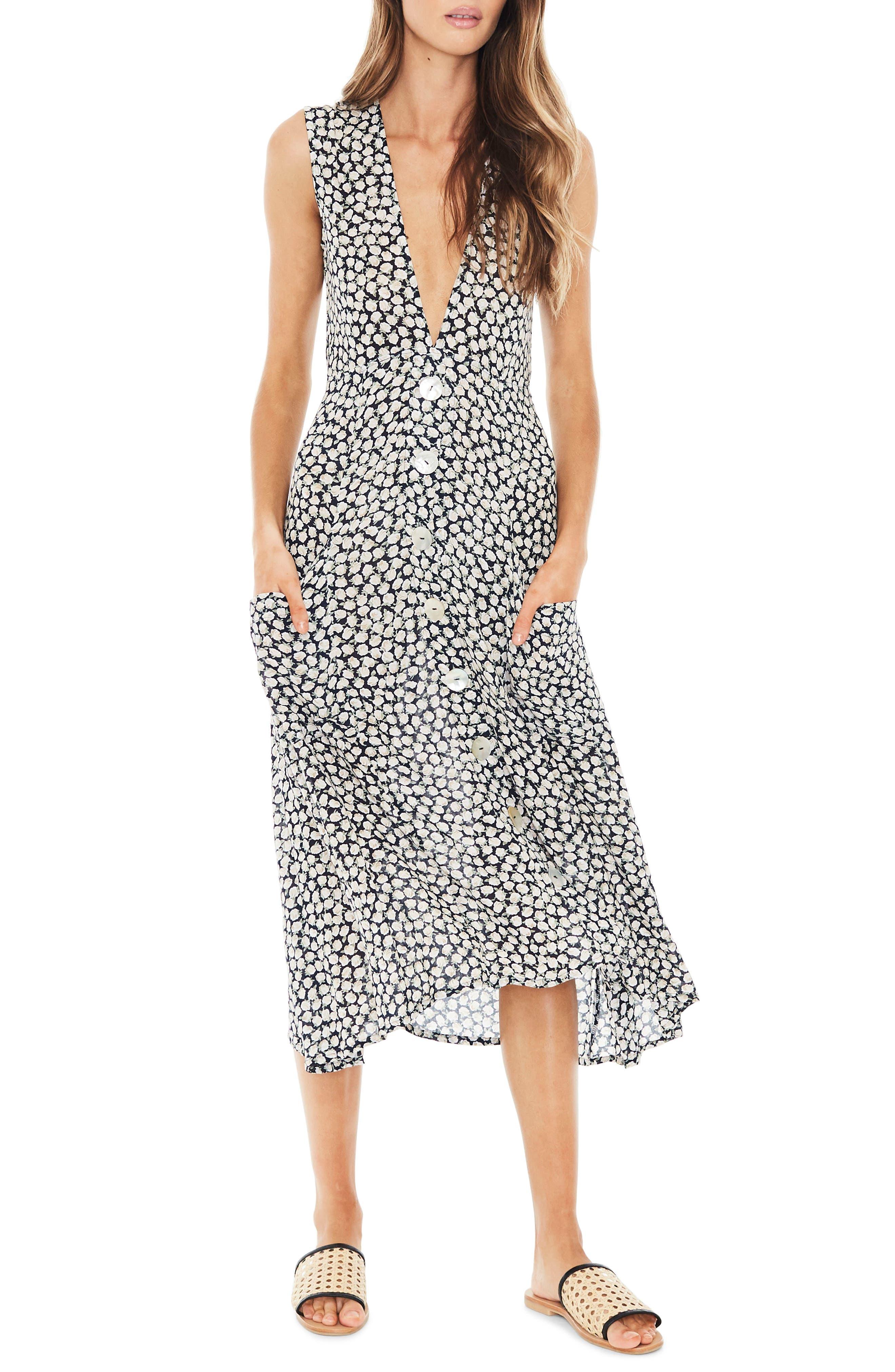 Blohm Print Midi Dress,                             Main thumbnail 1, color,                             400