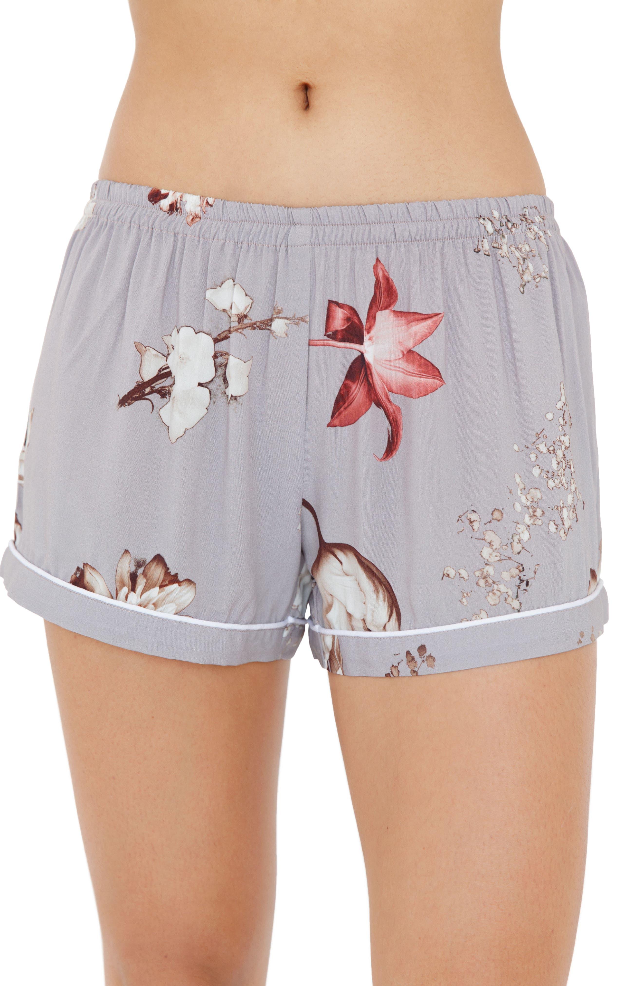Floral Short Pajamas,                             Alternate thumbnail 3, color,                             530