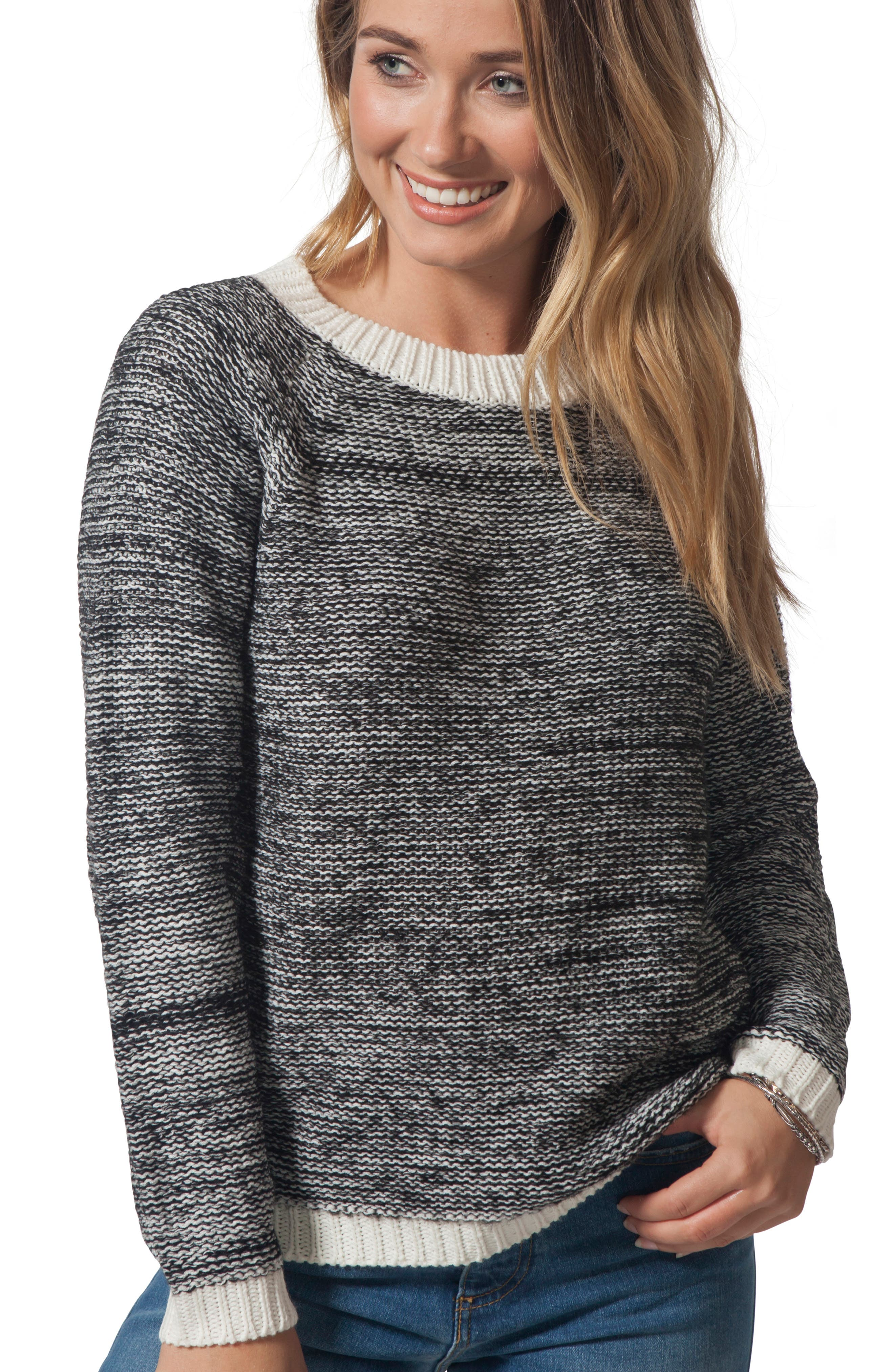 Beachside Crewneck Sweater,                             Alternate thumbnail 4, color,                             CASTOR GRAY