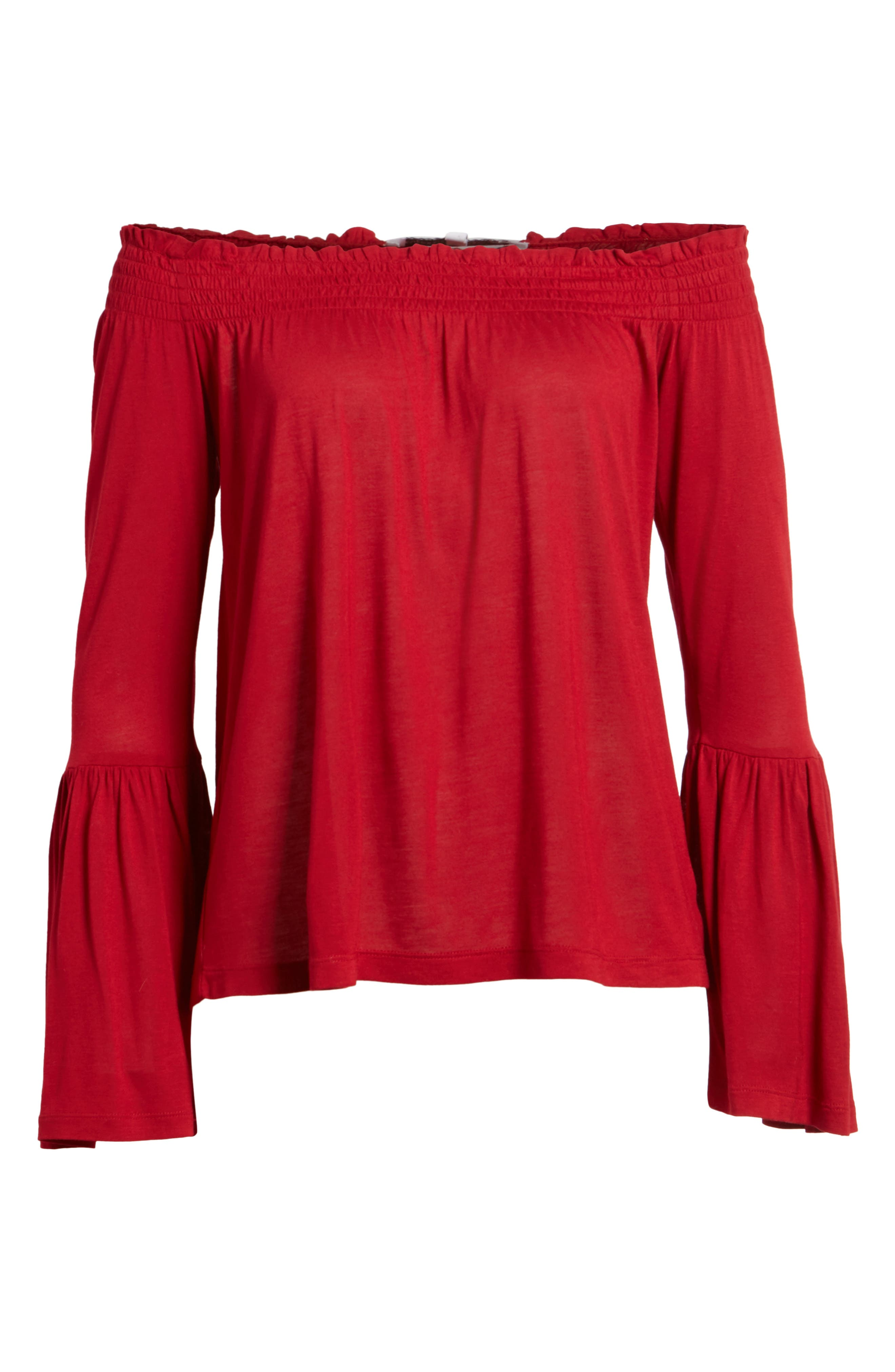 Luck Off the Shoulder Top,                             Alternate thumbnail 6, color,                             643