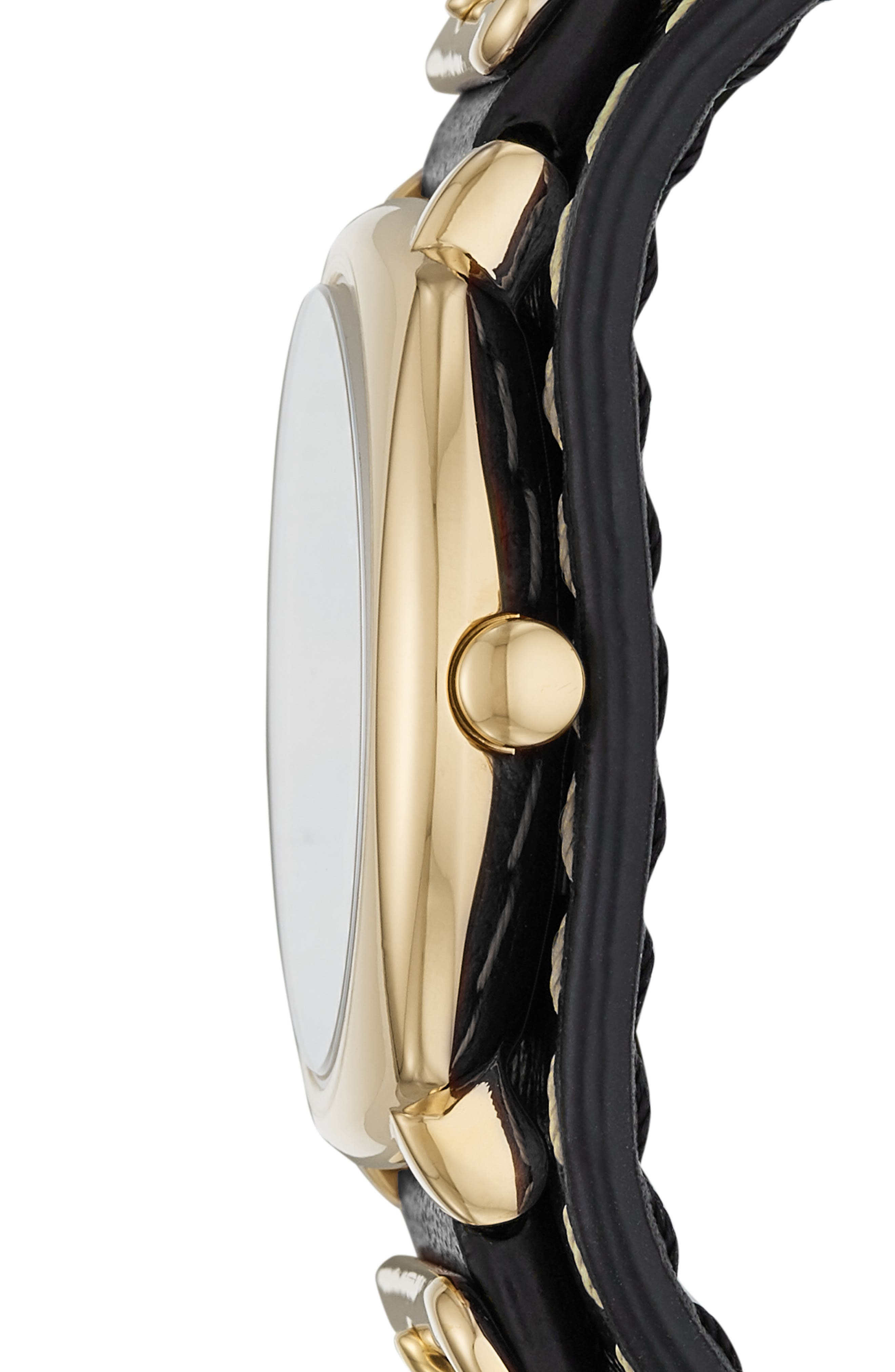 Mandy Leather Strap Watch, 34mm,                             Alternate thumbnail 2, color,                             001