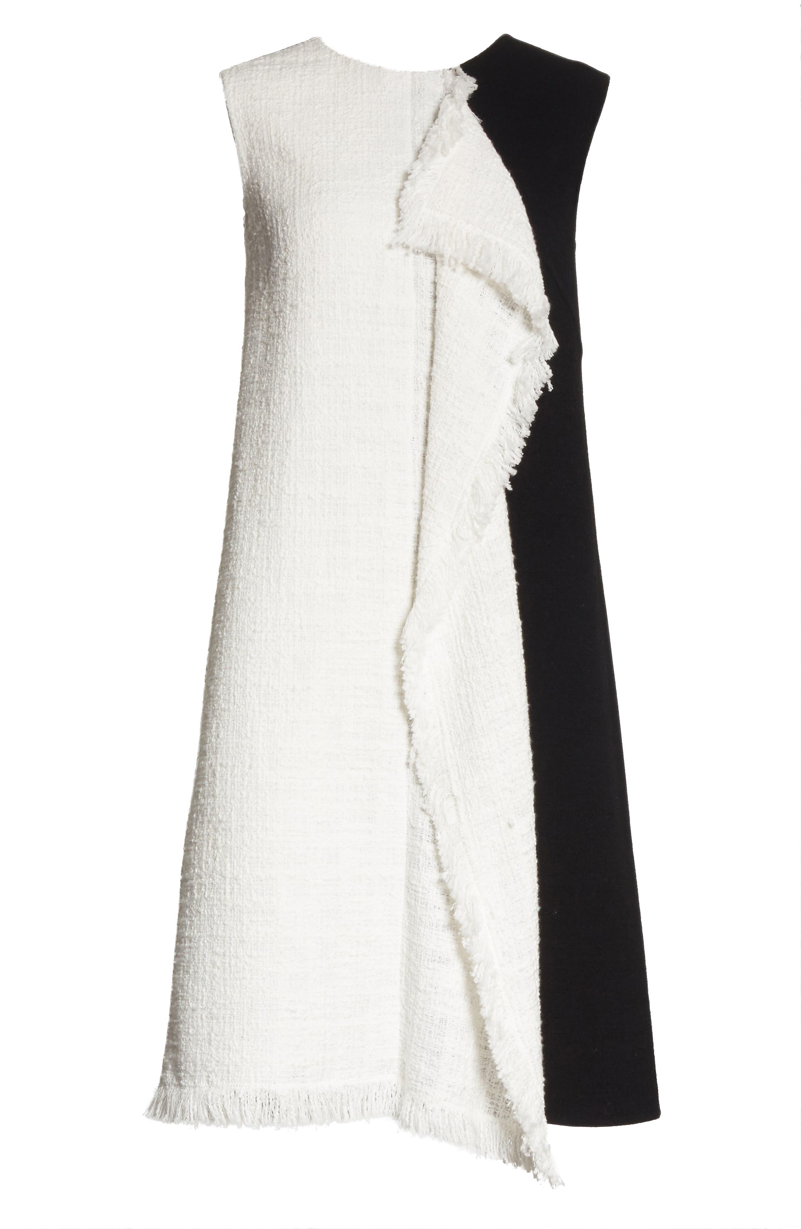 Cascade Tweed Shift Dress,                             Alternate thumbnail 6, color,                             188