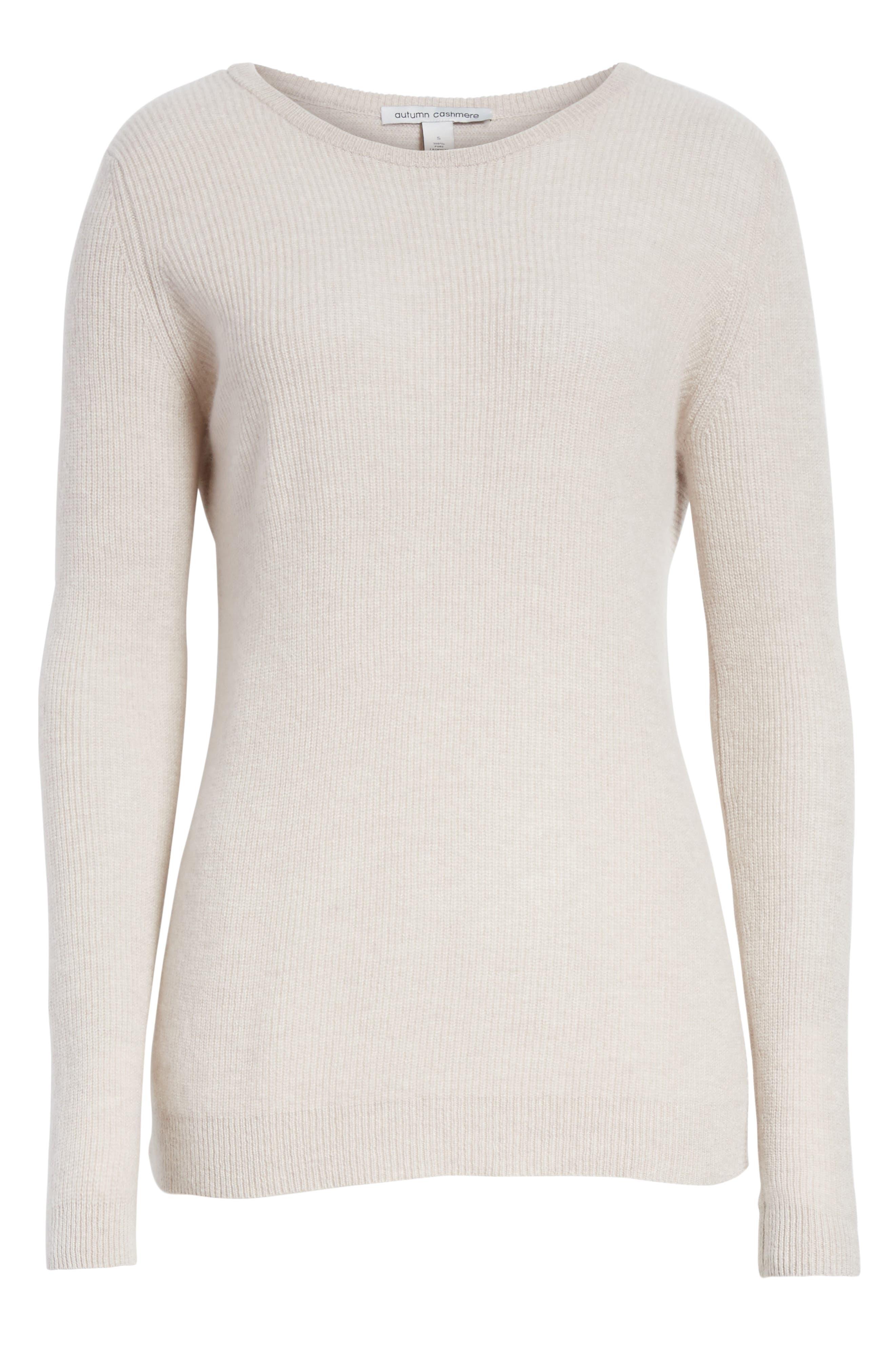 Cashmere Reversible Surplice Sweater,                             Alternate thumbnail 12, color,