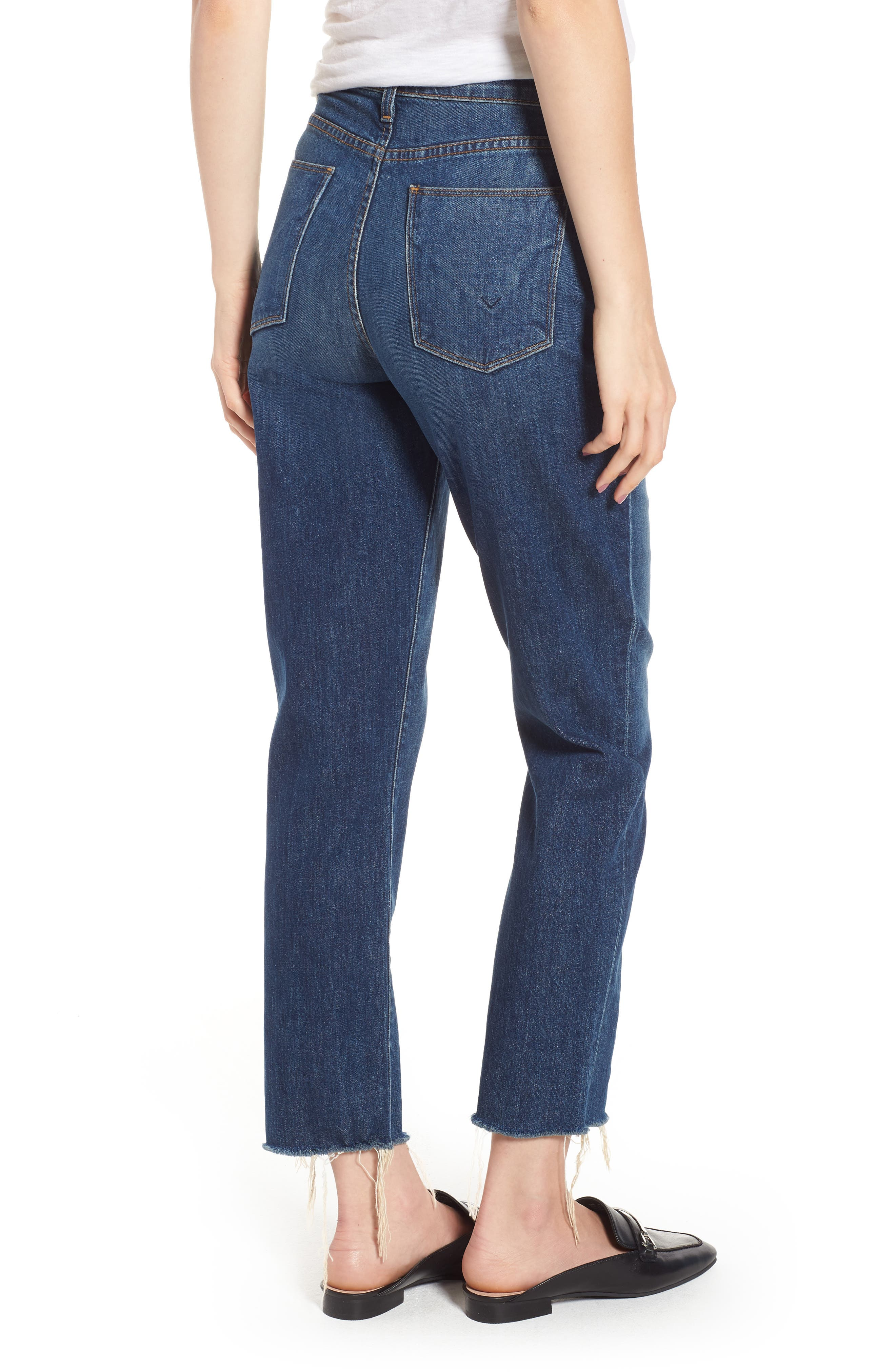 Zoeey High Waist Crop Straight Leg Jeans,                             Alternate thumbnail 2, color,                             402