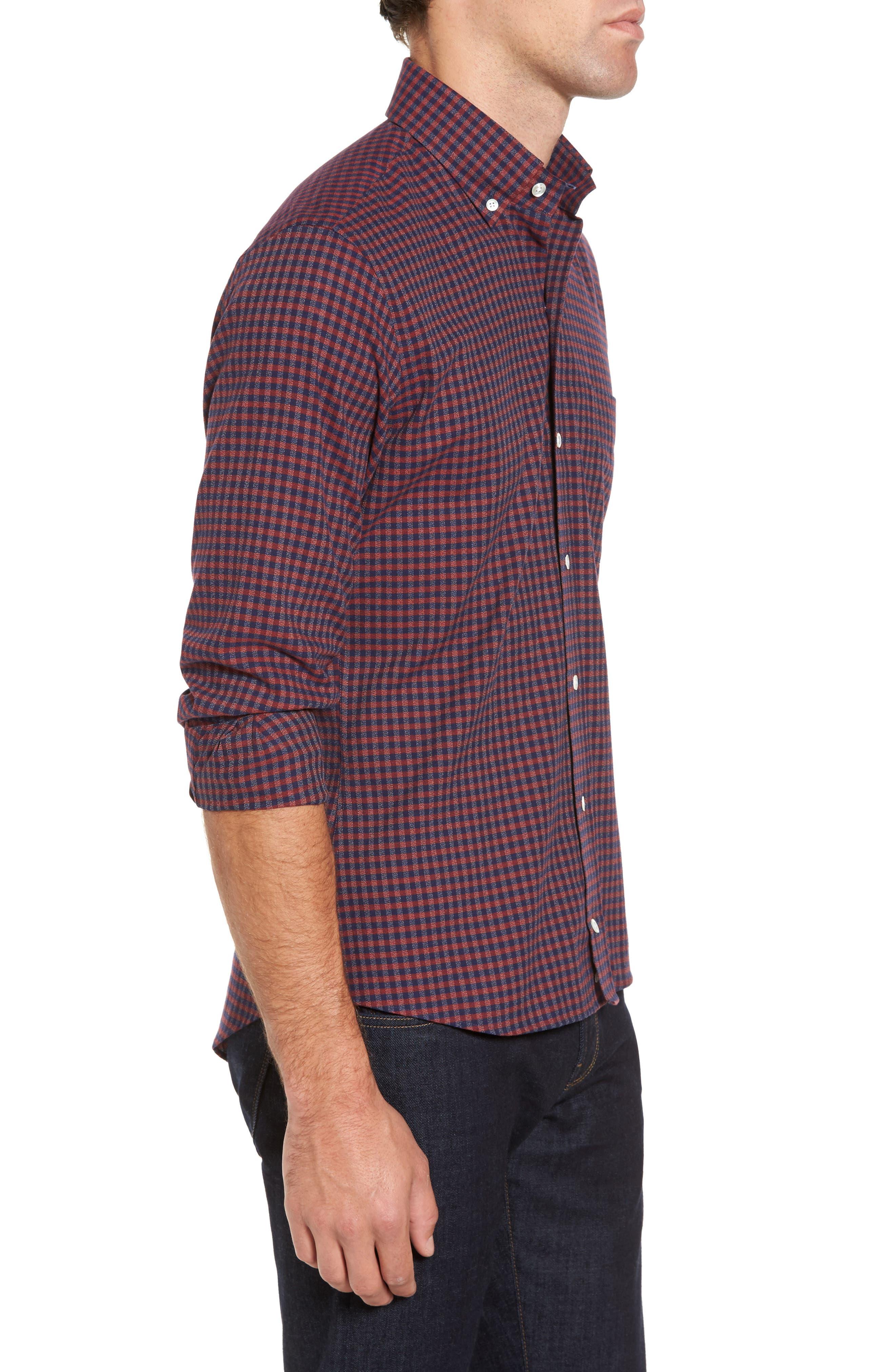 Slim Fit Check Sport Shirt,                             Alternate thumbnail 3, color,                             600