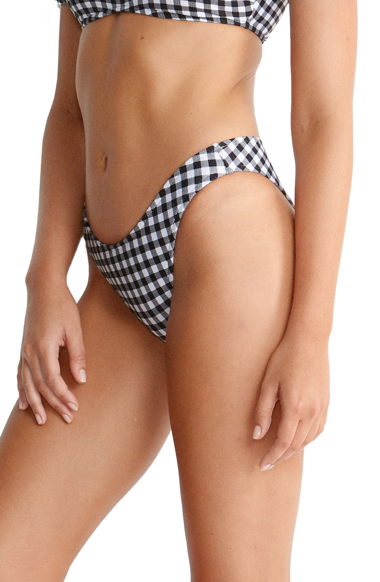 Labelle High Rise Bikini Bottoms,                         Main,                         color, BLACK