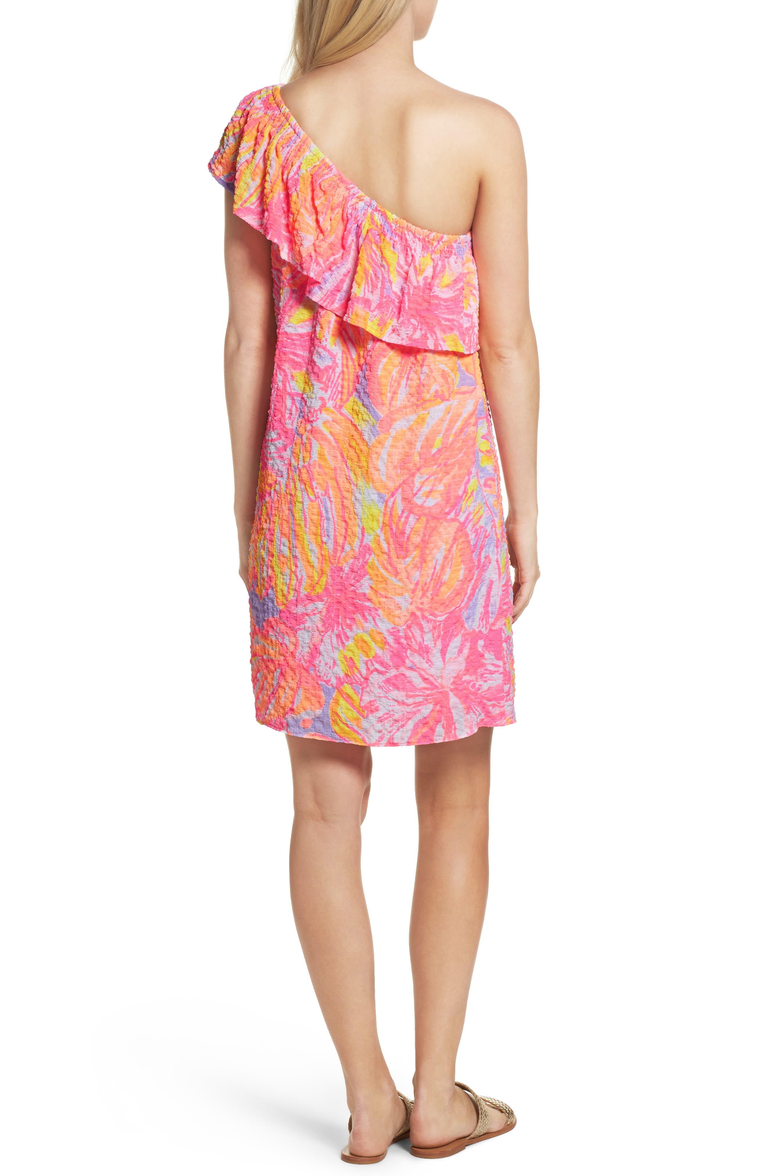 Emmeline One-Shoulder Dress,                             Alternate thumbnail 2, color,                             599