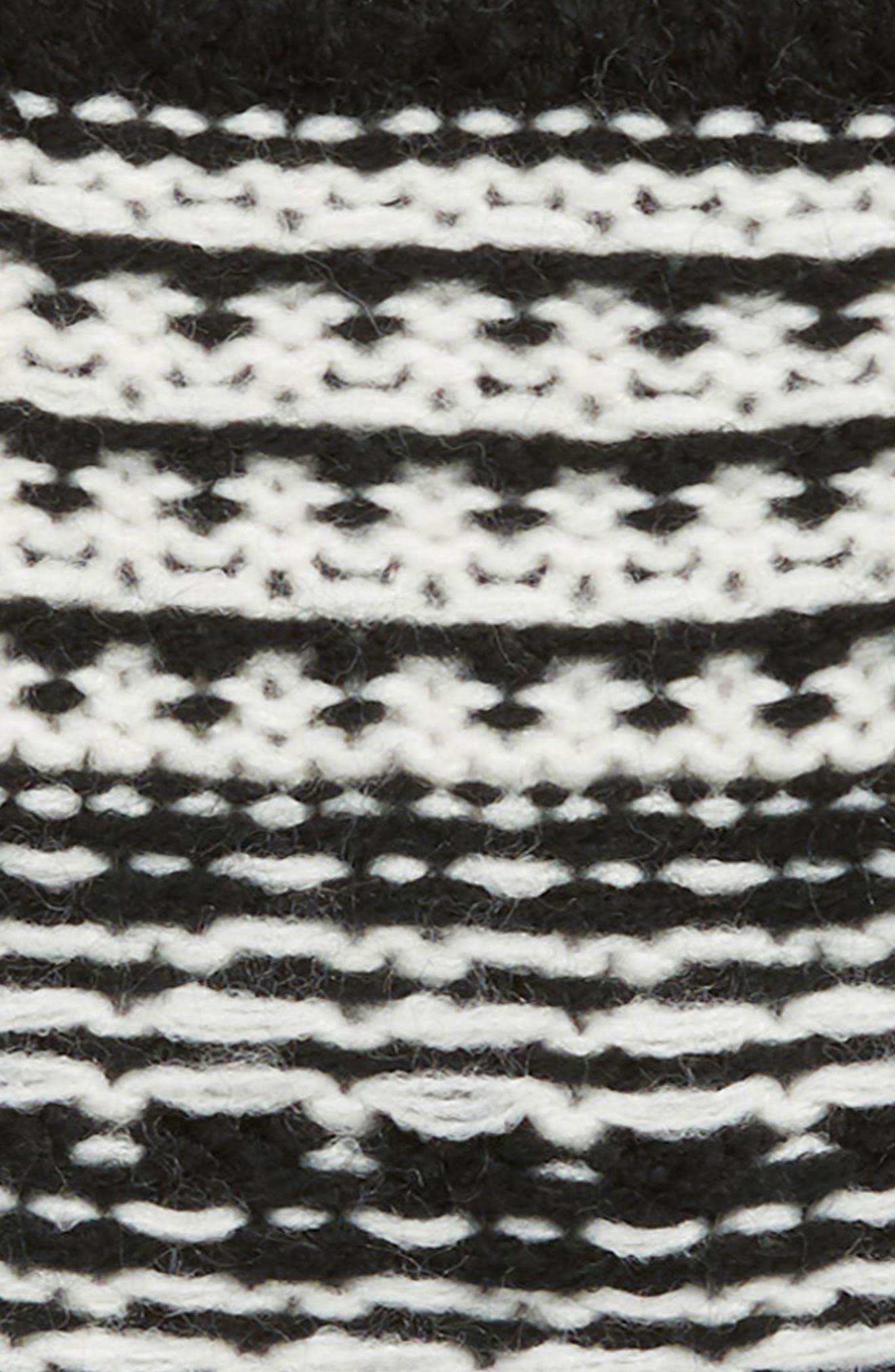 Pop Top Mittens,                             Alternate thumbnail 2, color,                             BLACK/ IVORY