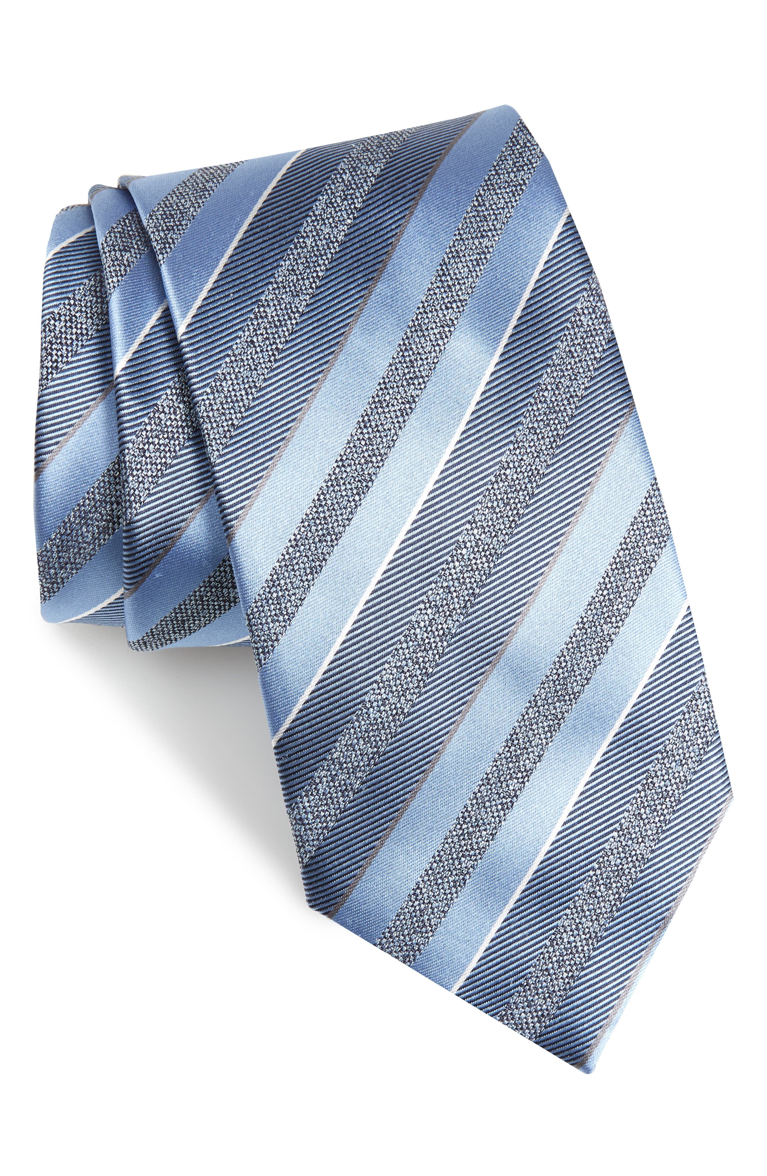 Stripe Silk Tie,                             Main thumbnail 1, color,                             451