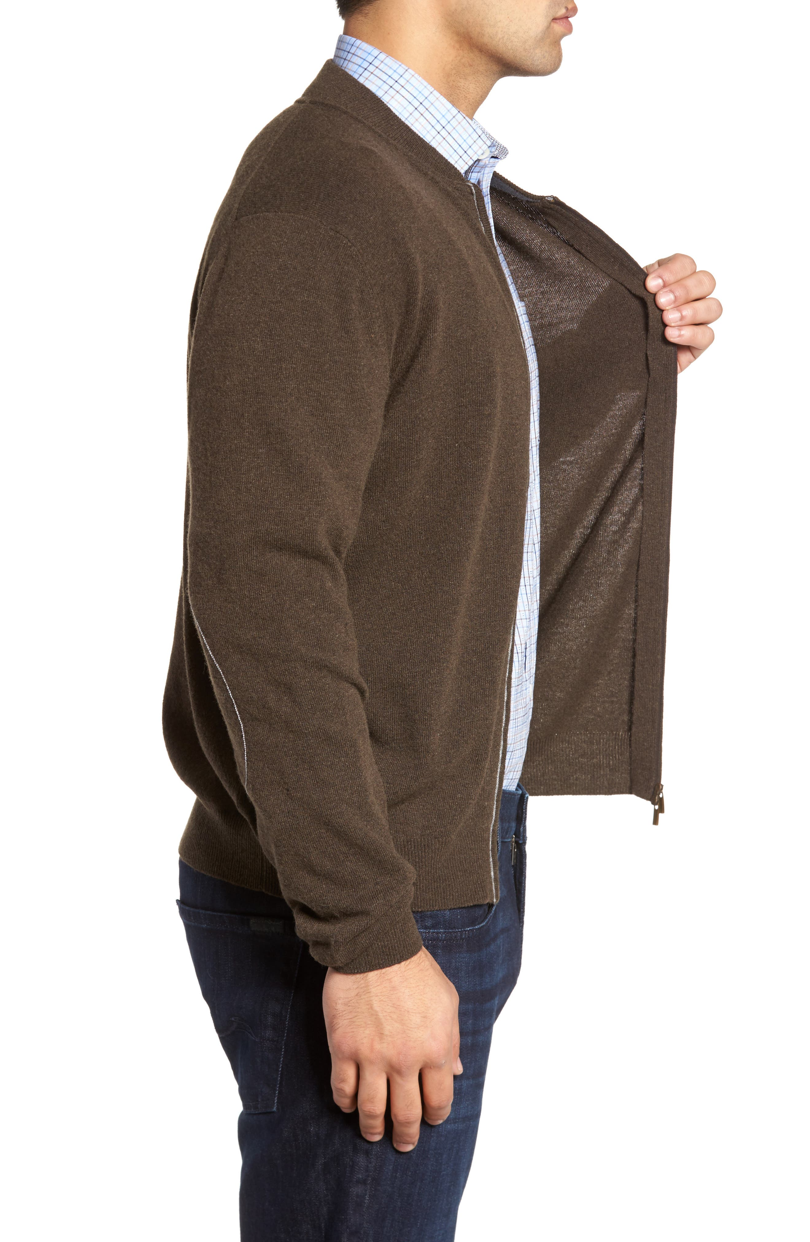 Zip Sweater,                             Alternate thumbnail 8, color,
