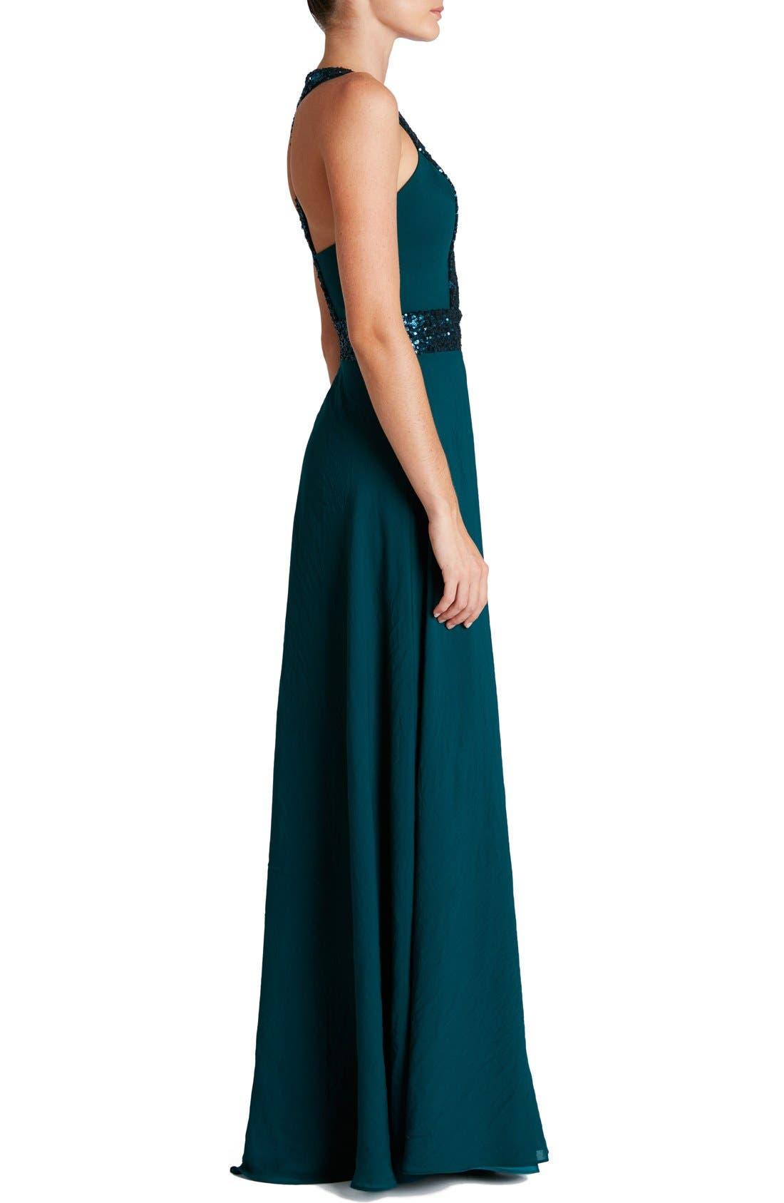 Delani Crepe Gown,                             Alternate thumbnail 20, color,