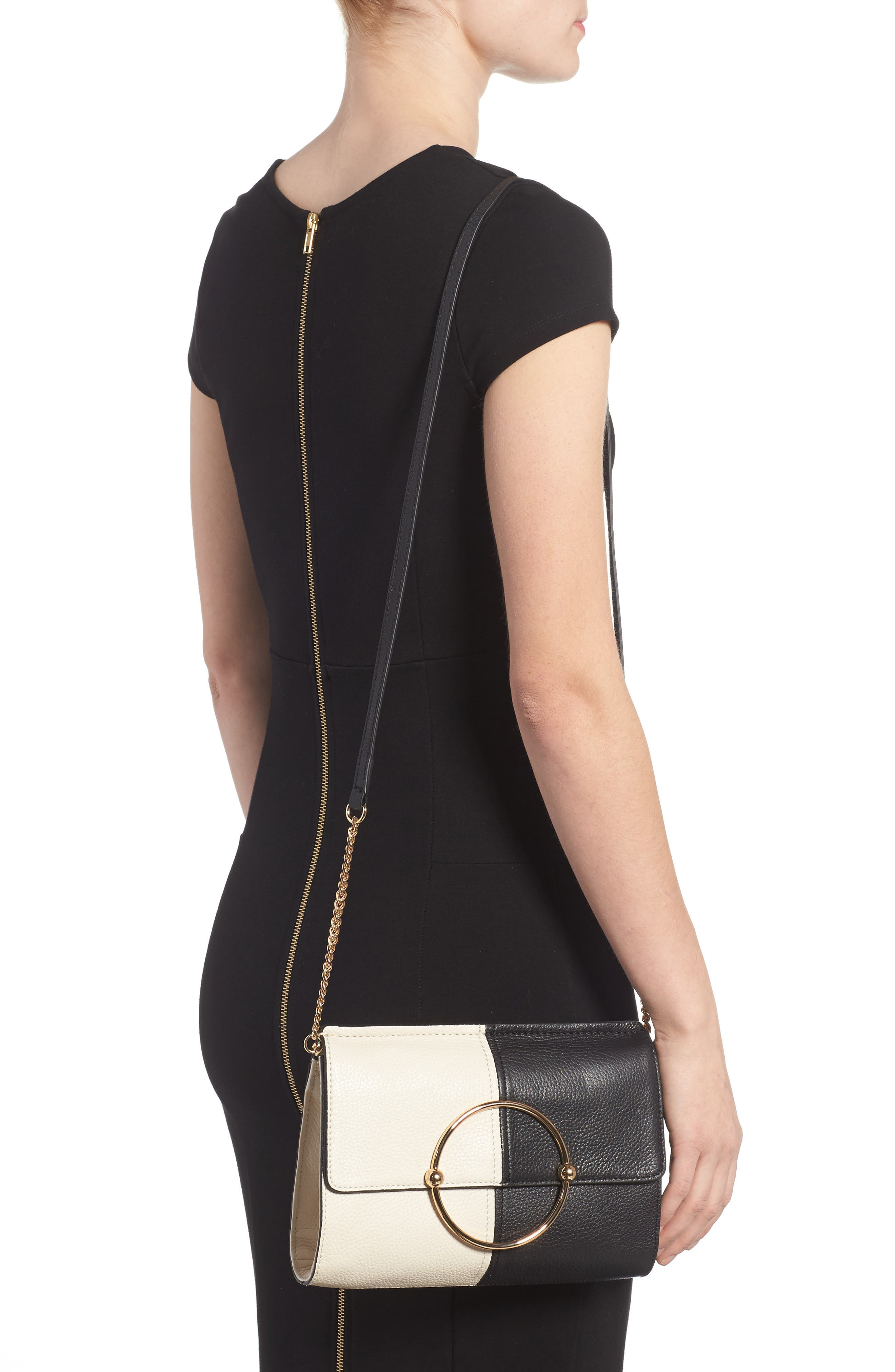Astor Pebbled Leather Flap Clutch,                             Alternate thumbnail 6, color,