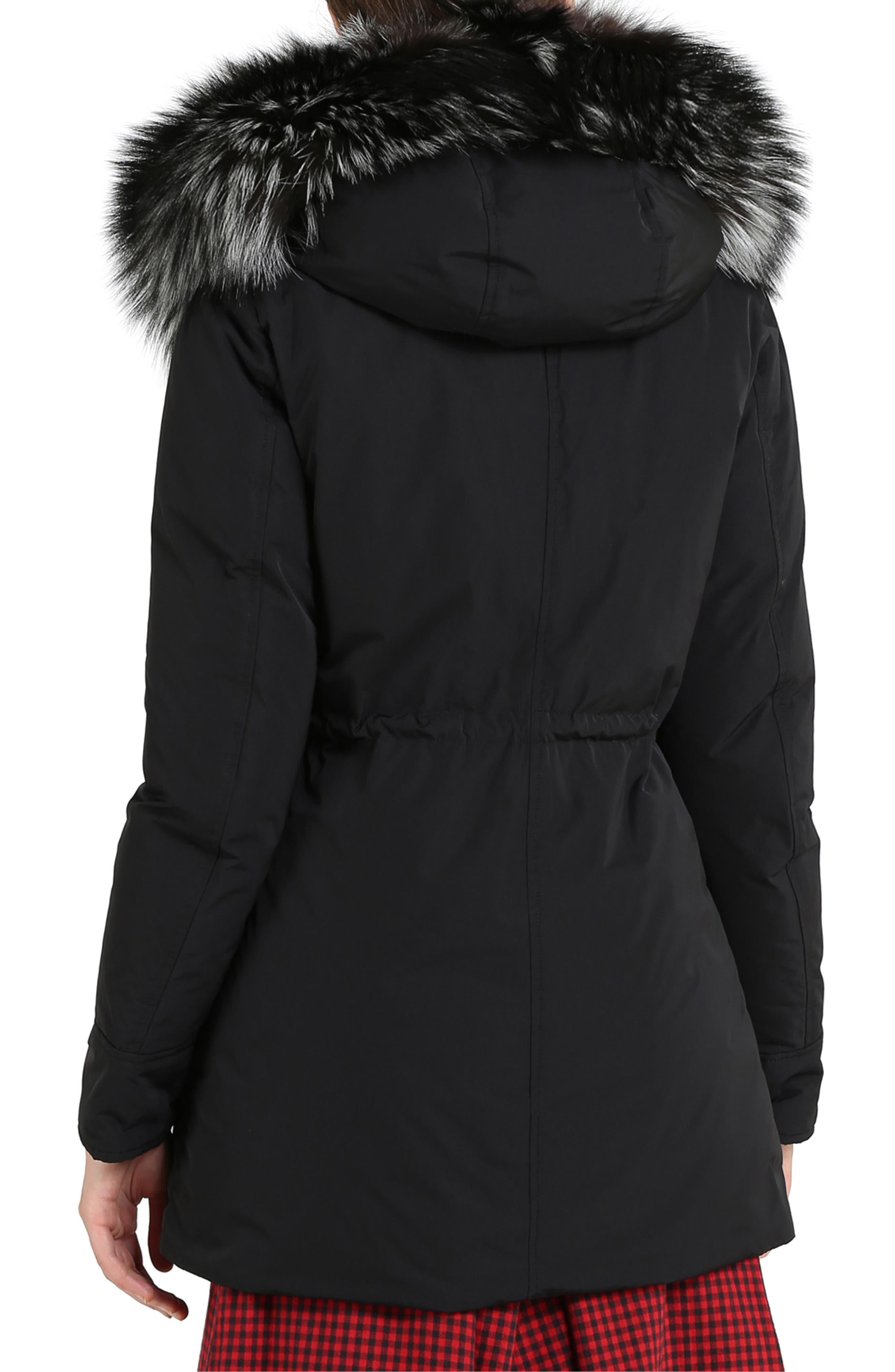 Somerset Reversible Hooded Down & Genuine Fox Fur Parka,                             Alternate thumbnail 2, color,                             BLACK