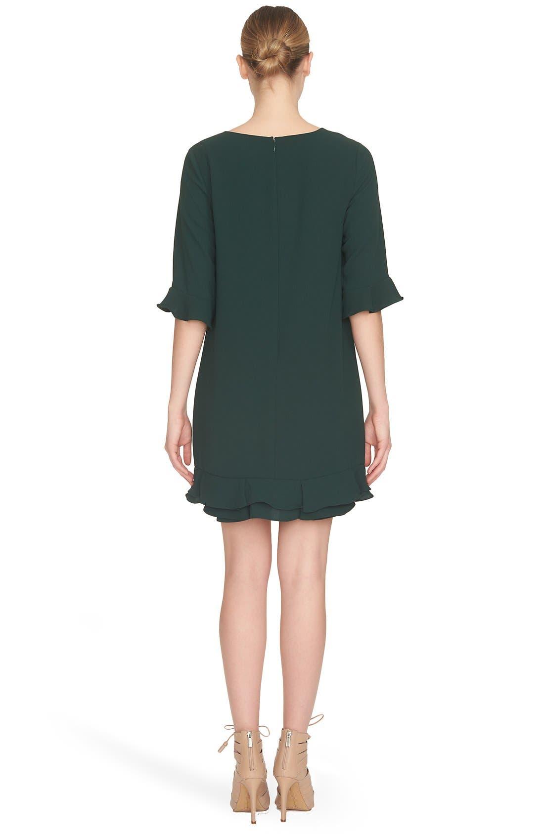 'Kate' Ruffle Hem Shift Dress,                             Alternate thumbnail 29, color,