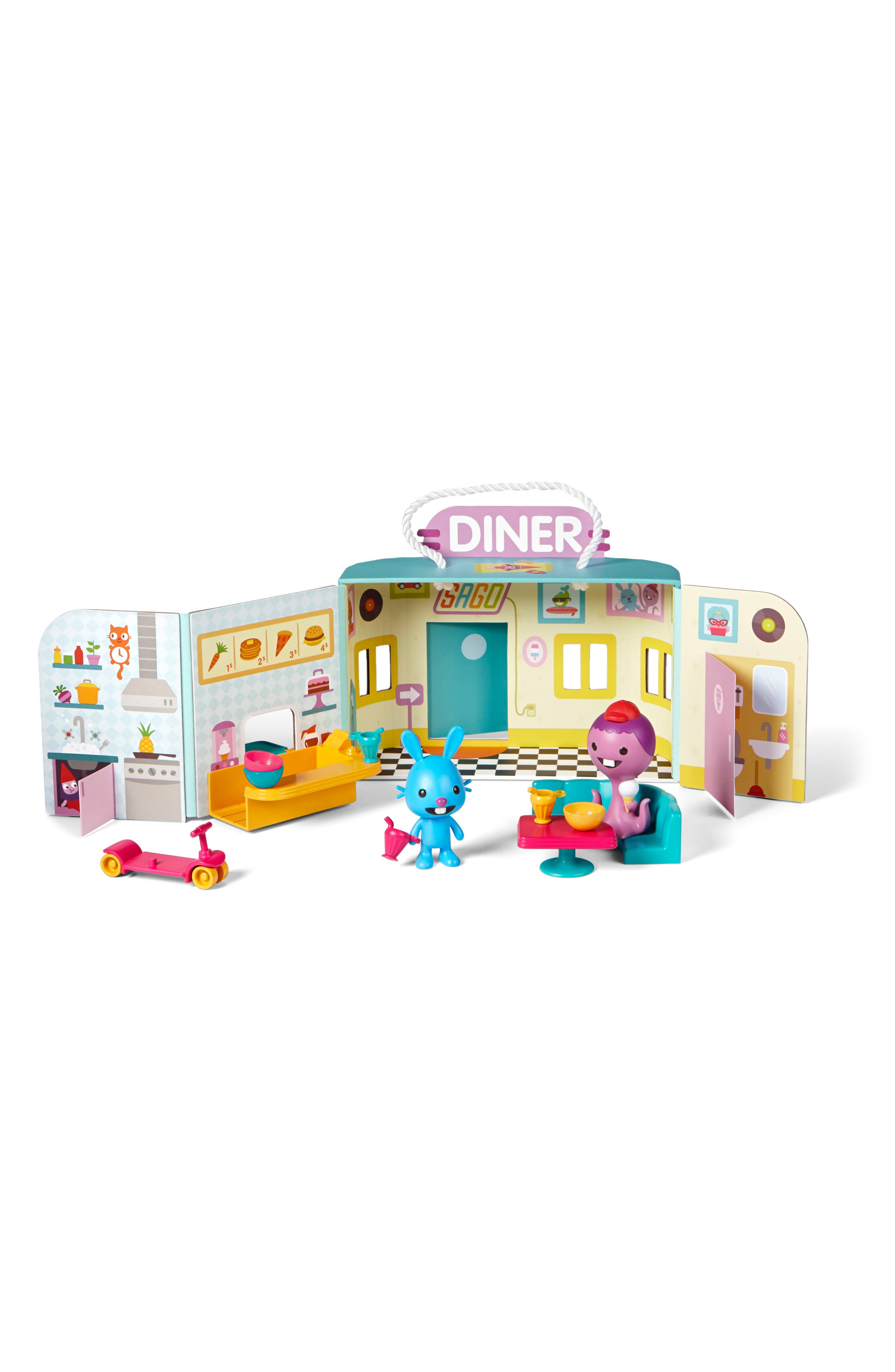 Jack's Diner Portable Play Set,                             Alternate thumbnail 3, color,                             MULTI