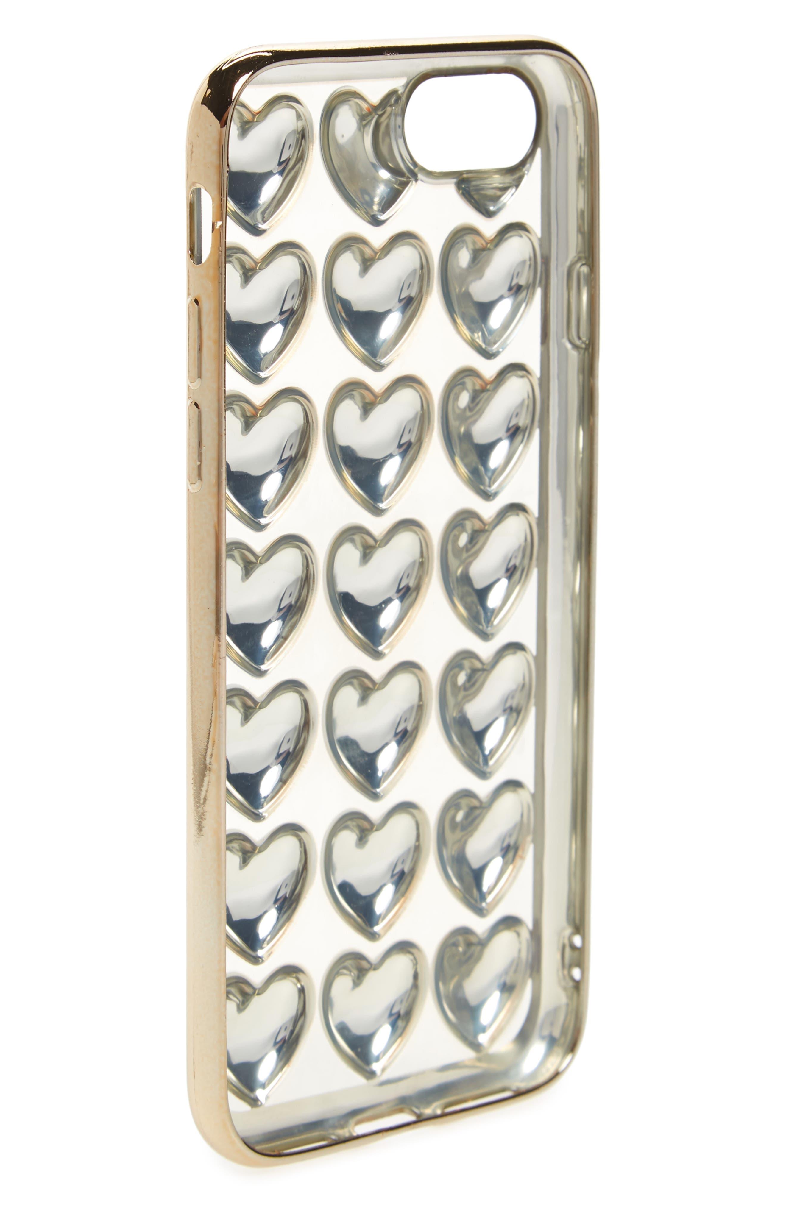 Bubble Heart iPhone 6/6s/7 Case,                             Alternate thumbnail 2, color,                             710