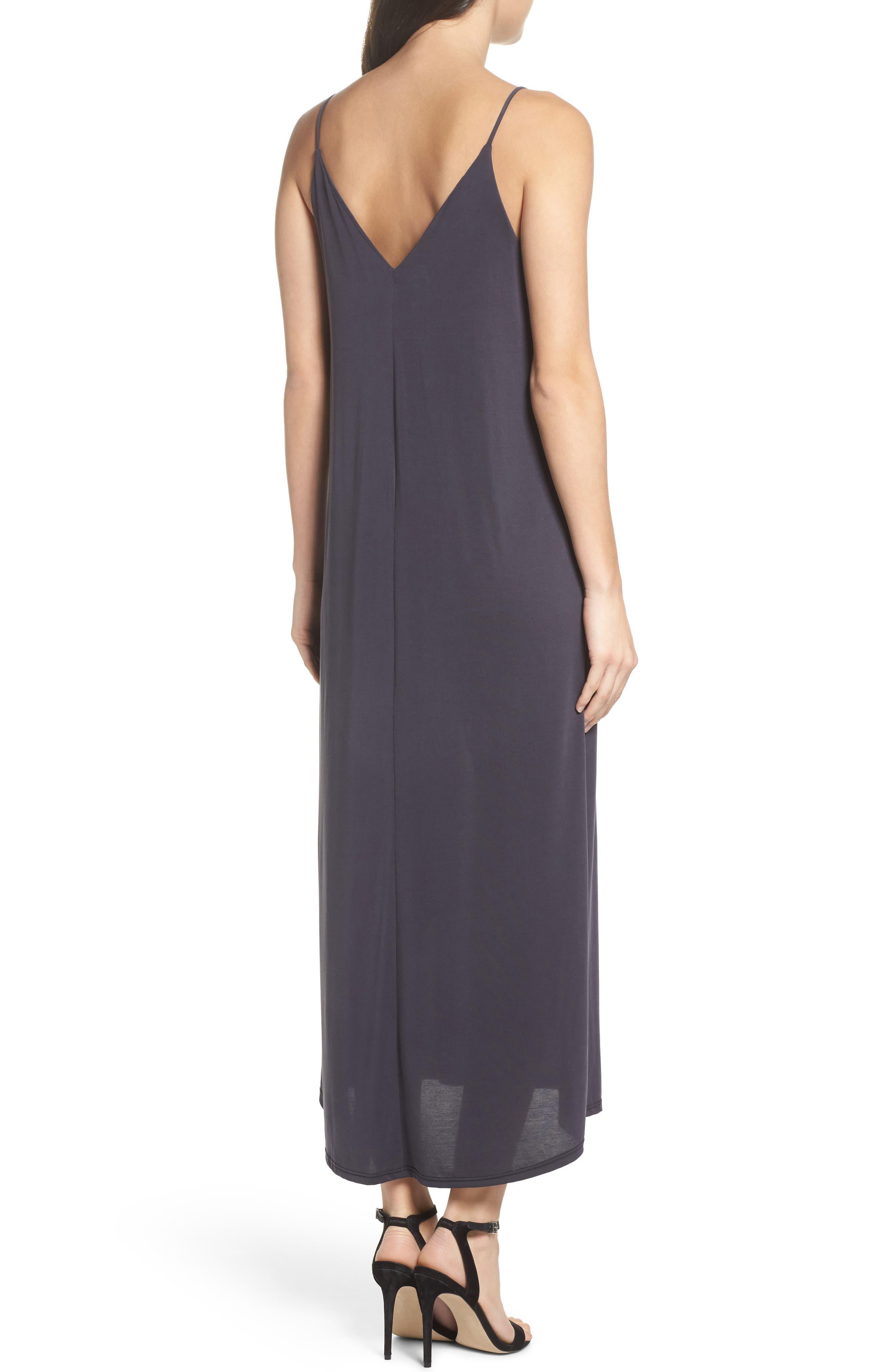 Knit Maxi Dress,                             Alternate thumbnail 2, color,                             002