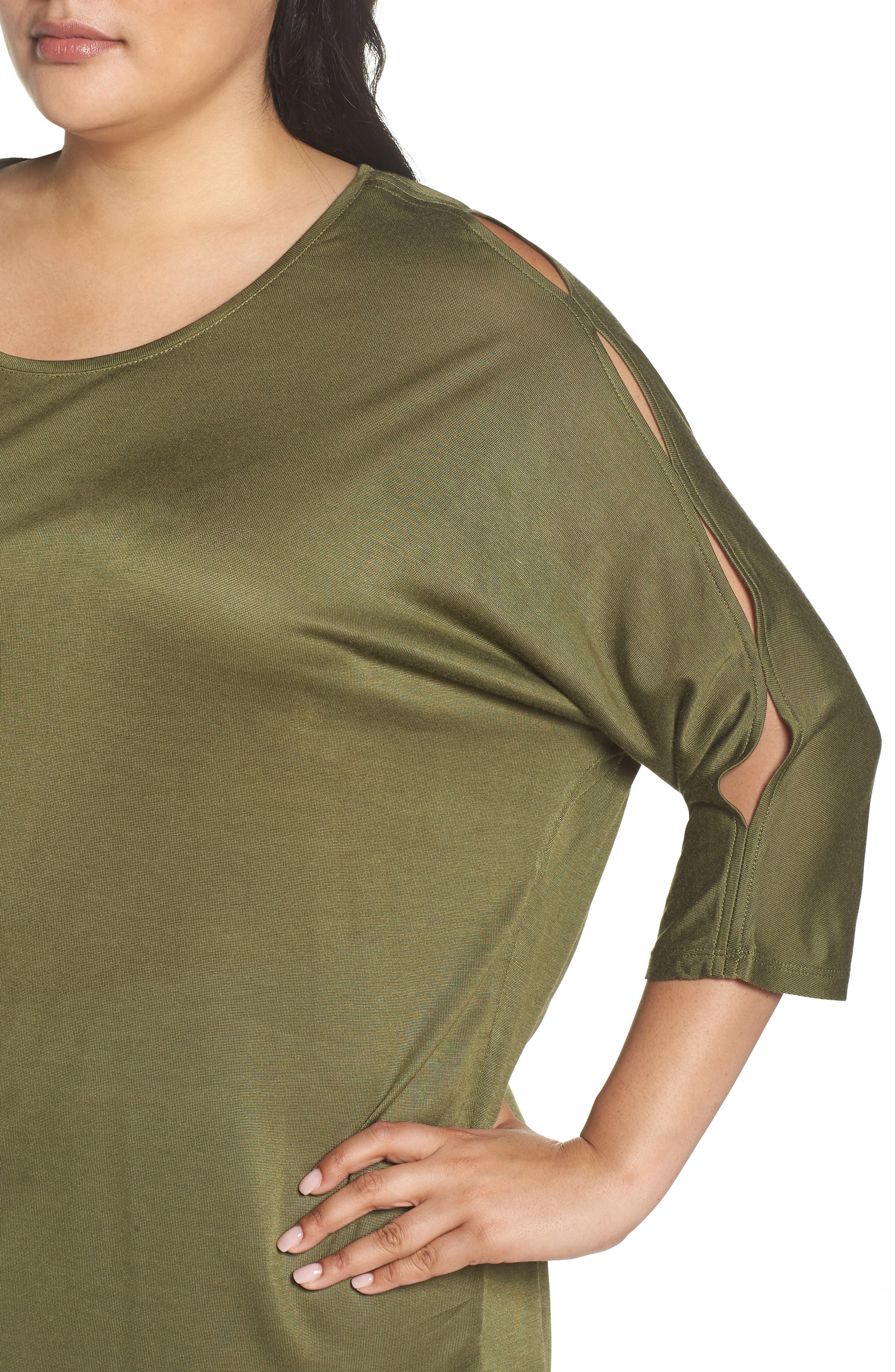 Slit Sleeve Top,                             Alternate thumbnail 17, color,