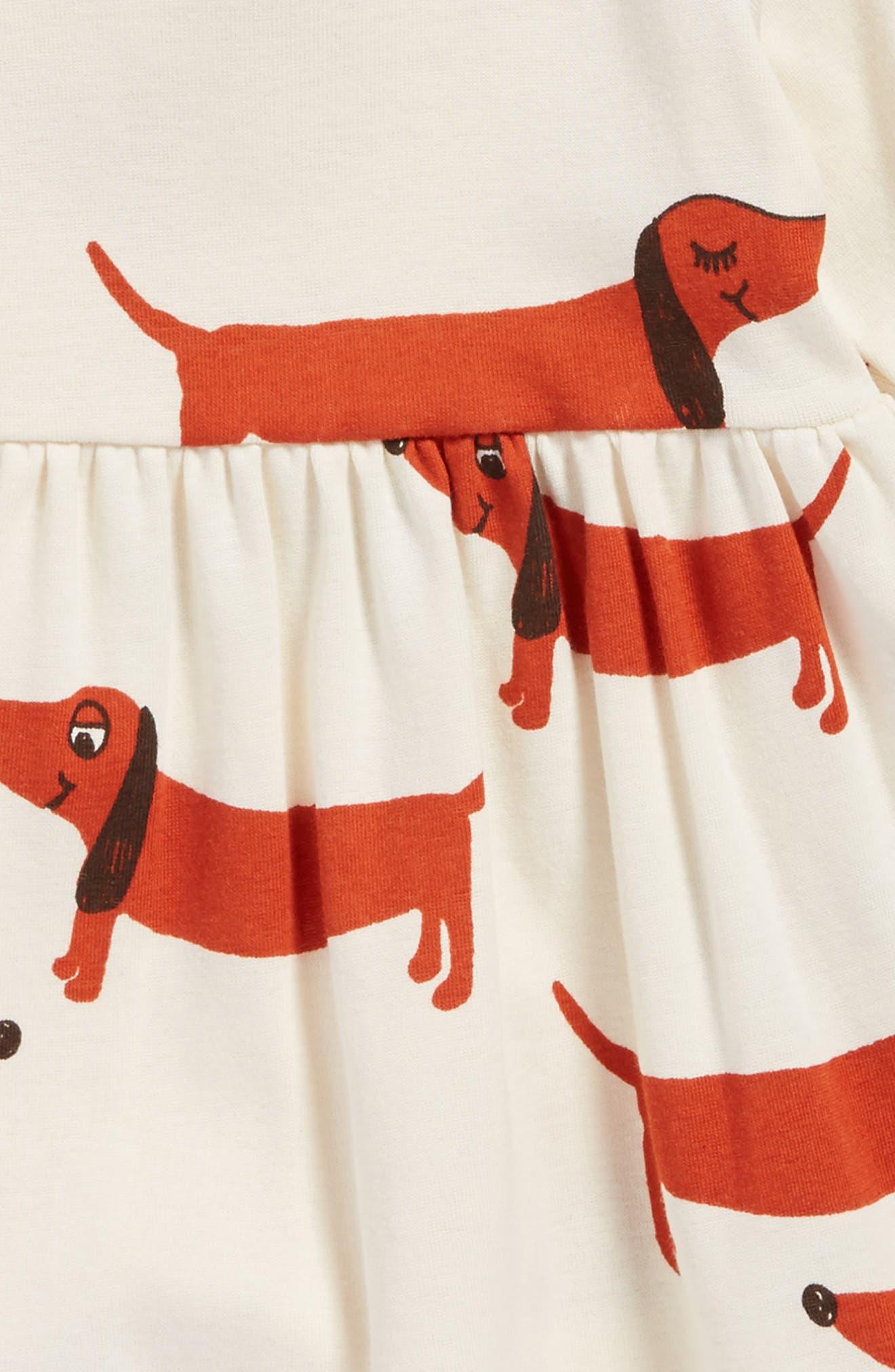 Dogs Organic Cotton Dress,                             Alternate thumbnail 3, color,